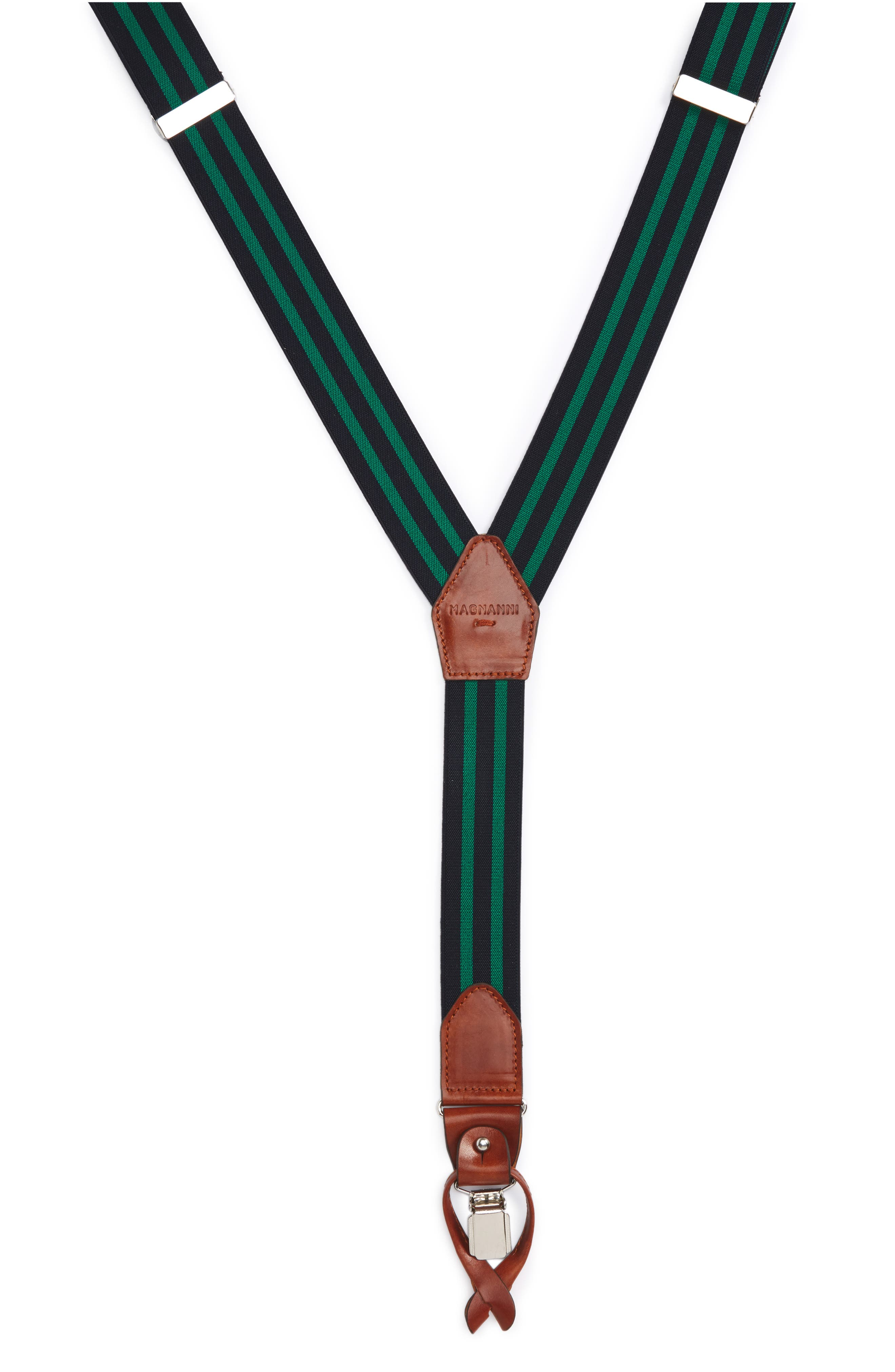 Double Line Suspenders,                         Main,                         color, Navy / Green