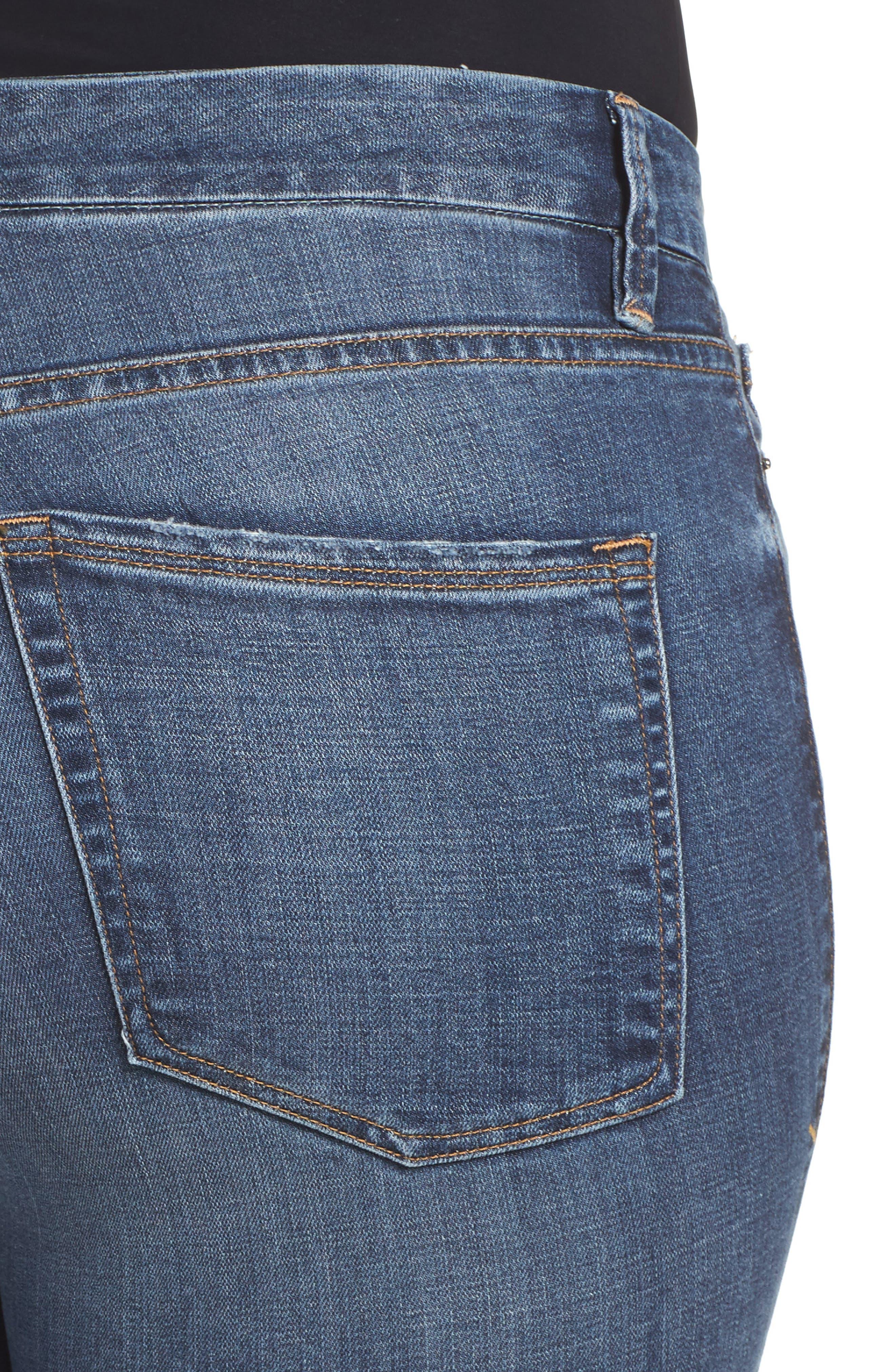 Alternate Image 10  - Good American Good Legs High Waist Ankle Skinny Jeans (Blue 084) (Regular & Plus Size)