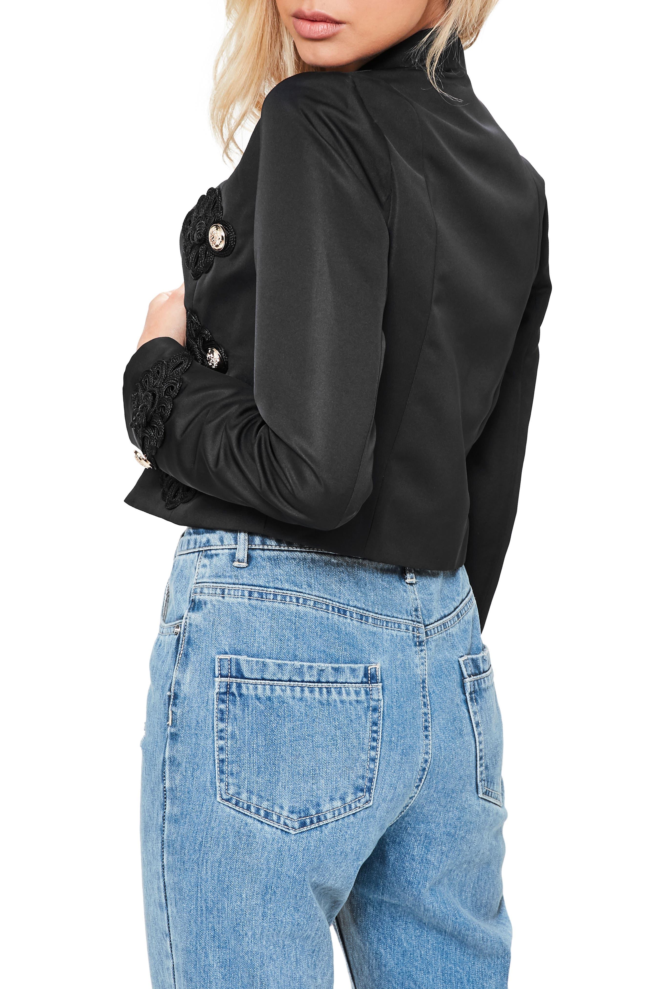 Alternate Image 2  - Missguided Crop Military Jacket