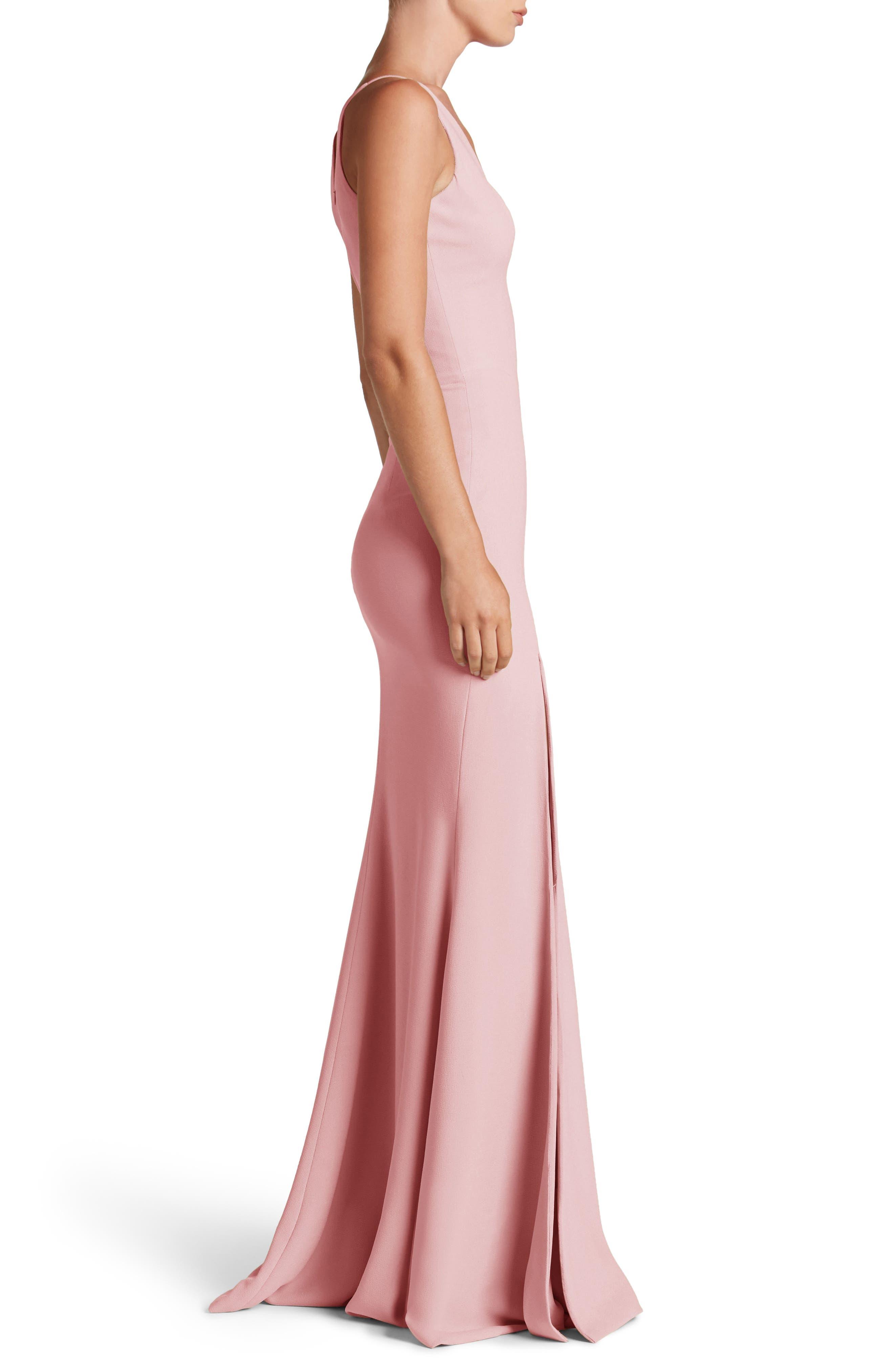 Alternate Image 3  - Dress the Population Iris Slit Crepe Gown