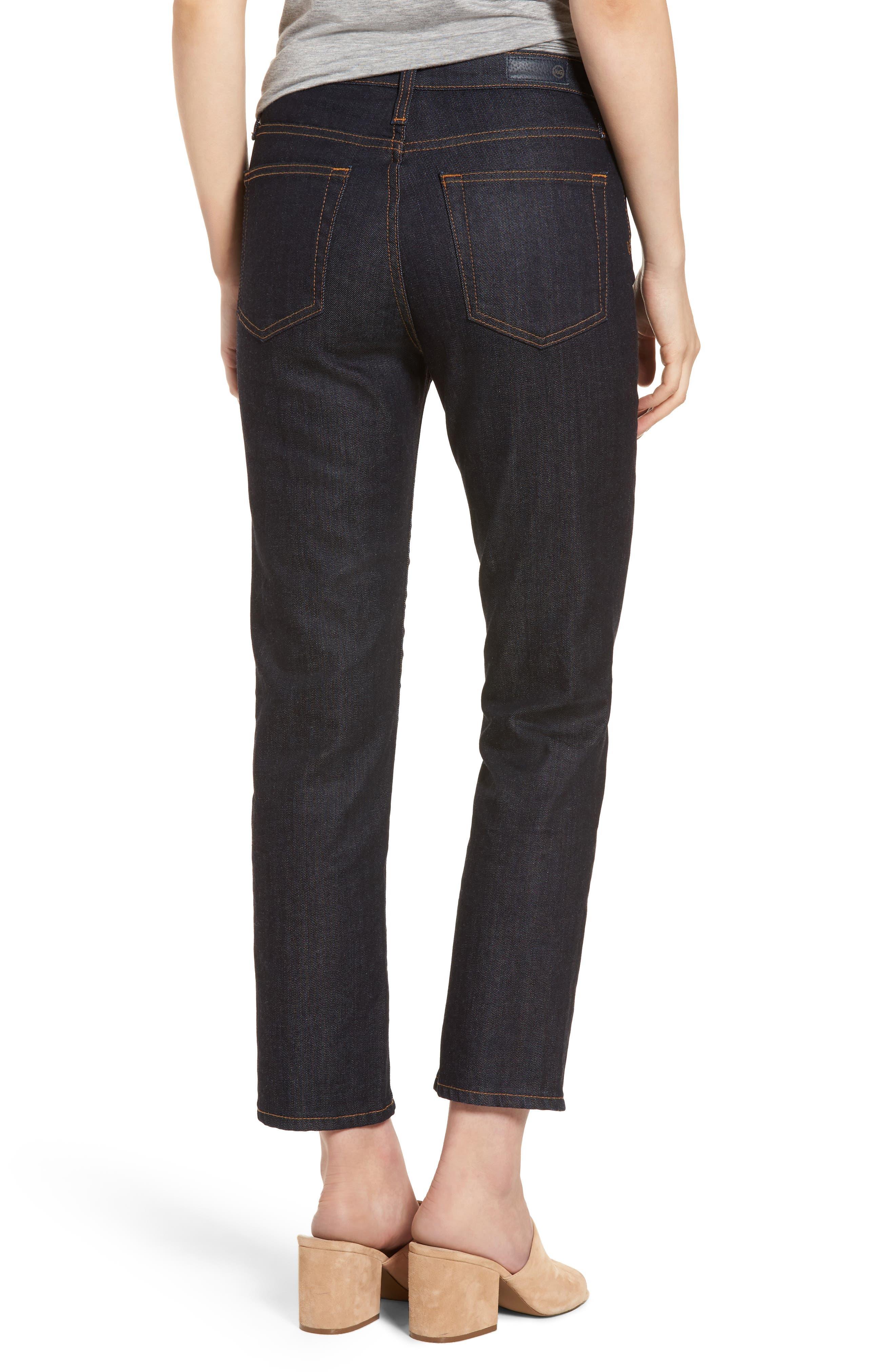 Alternate Image 2  - AG Isabelle High Waist Ankle Jeans (Indigo Autumn)