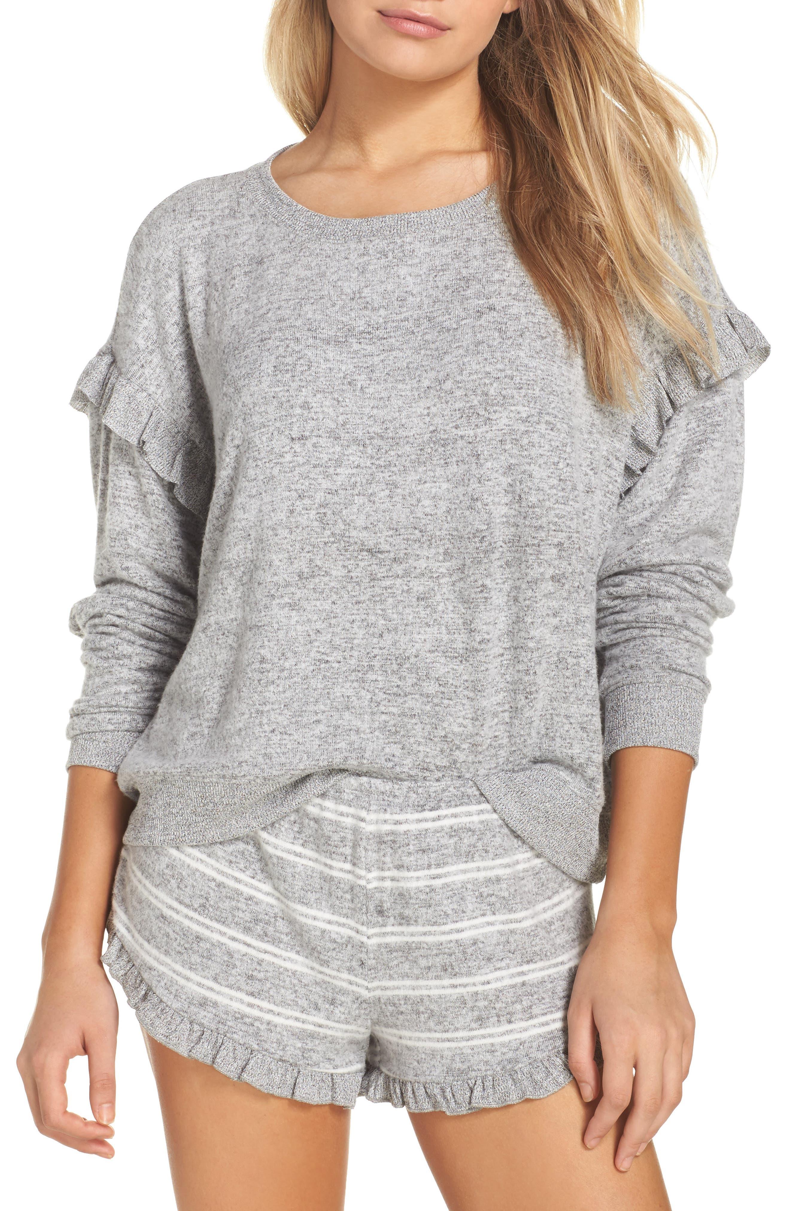 Make + Model Cozy Ruffle Pullover