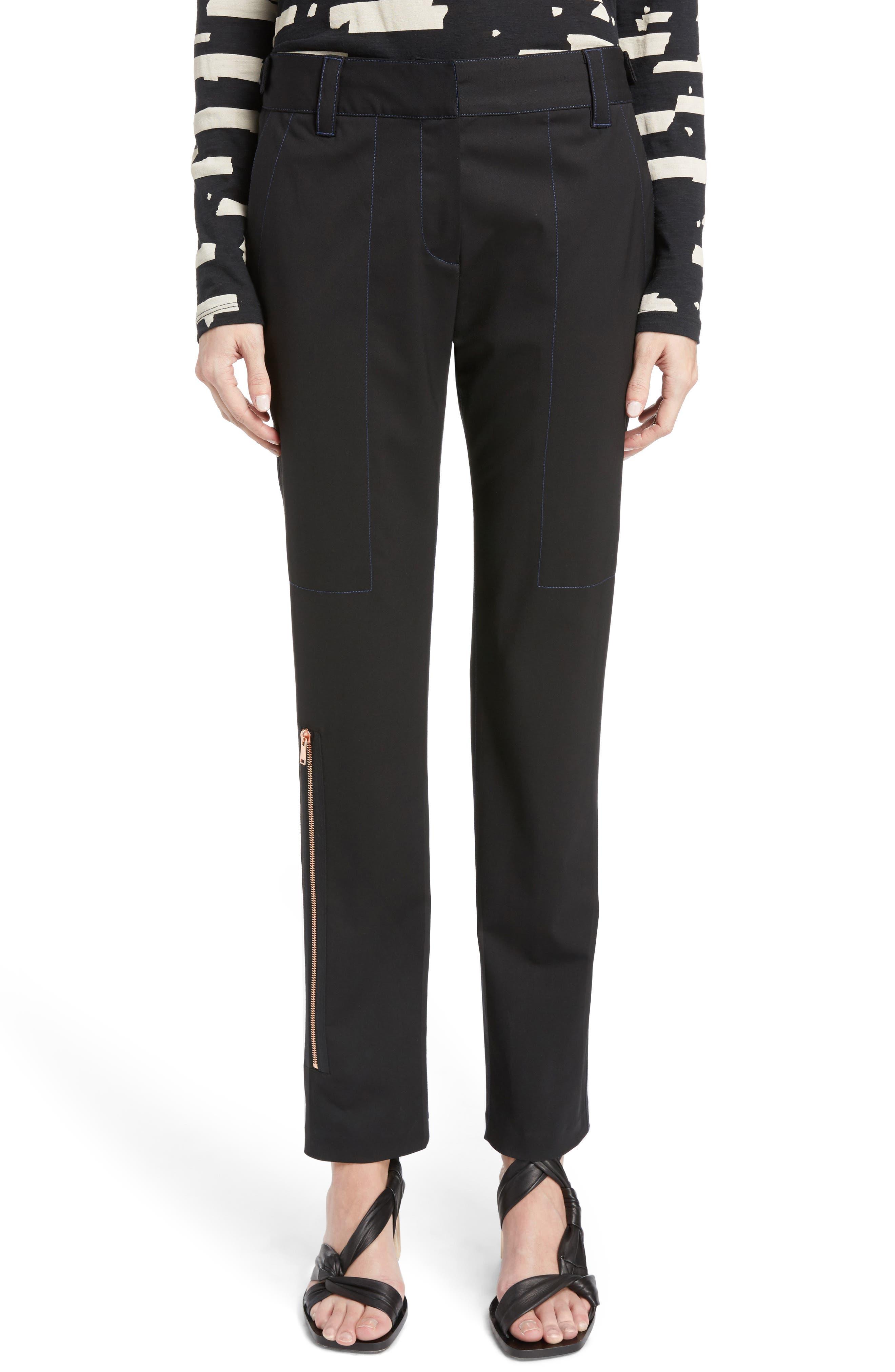 Proenza Schouler Stretch Wool Straight Leg Pants