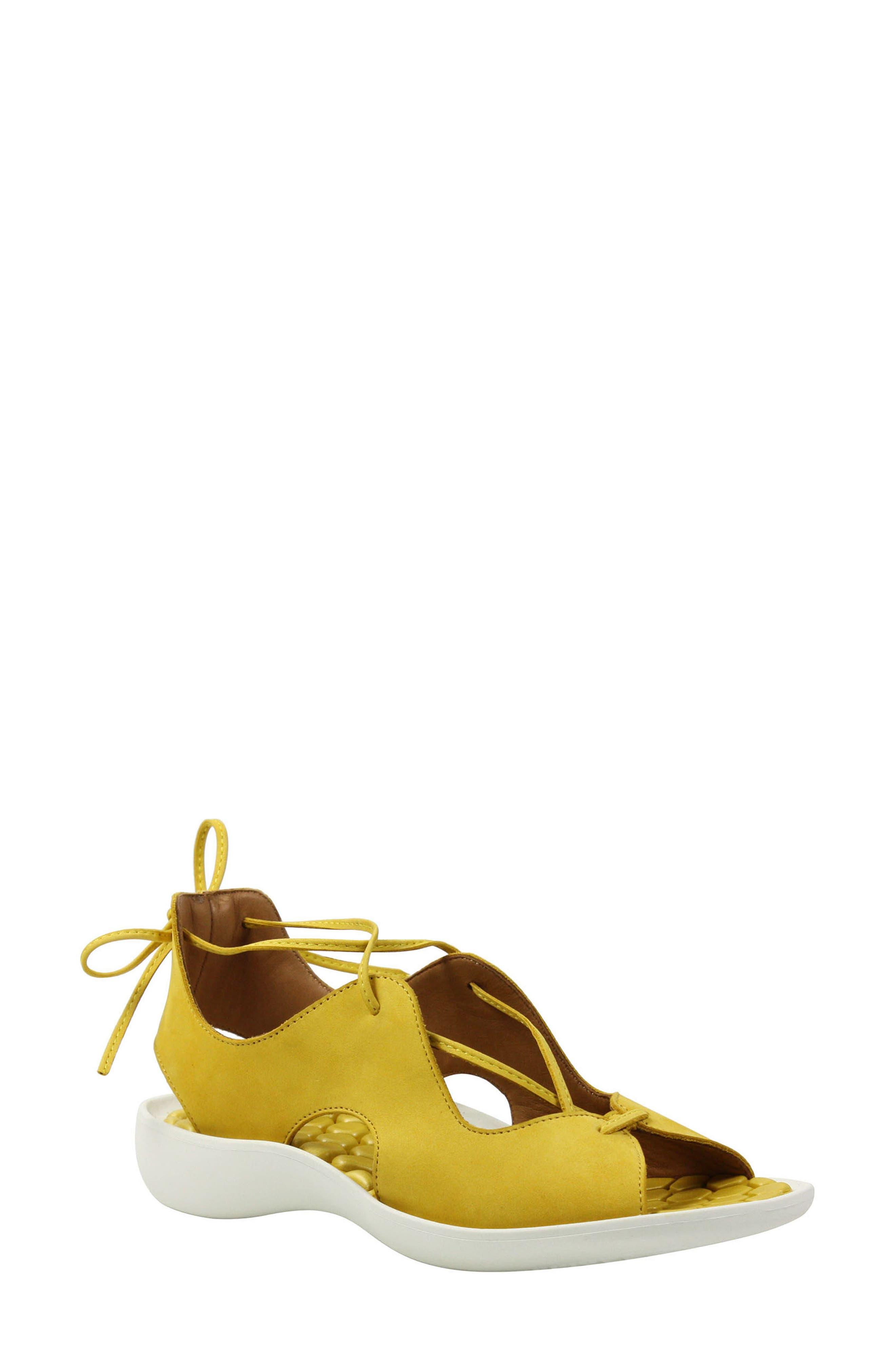 L'Amour Des Pieds Nesimah Lace-Up Sandal (Women)