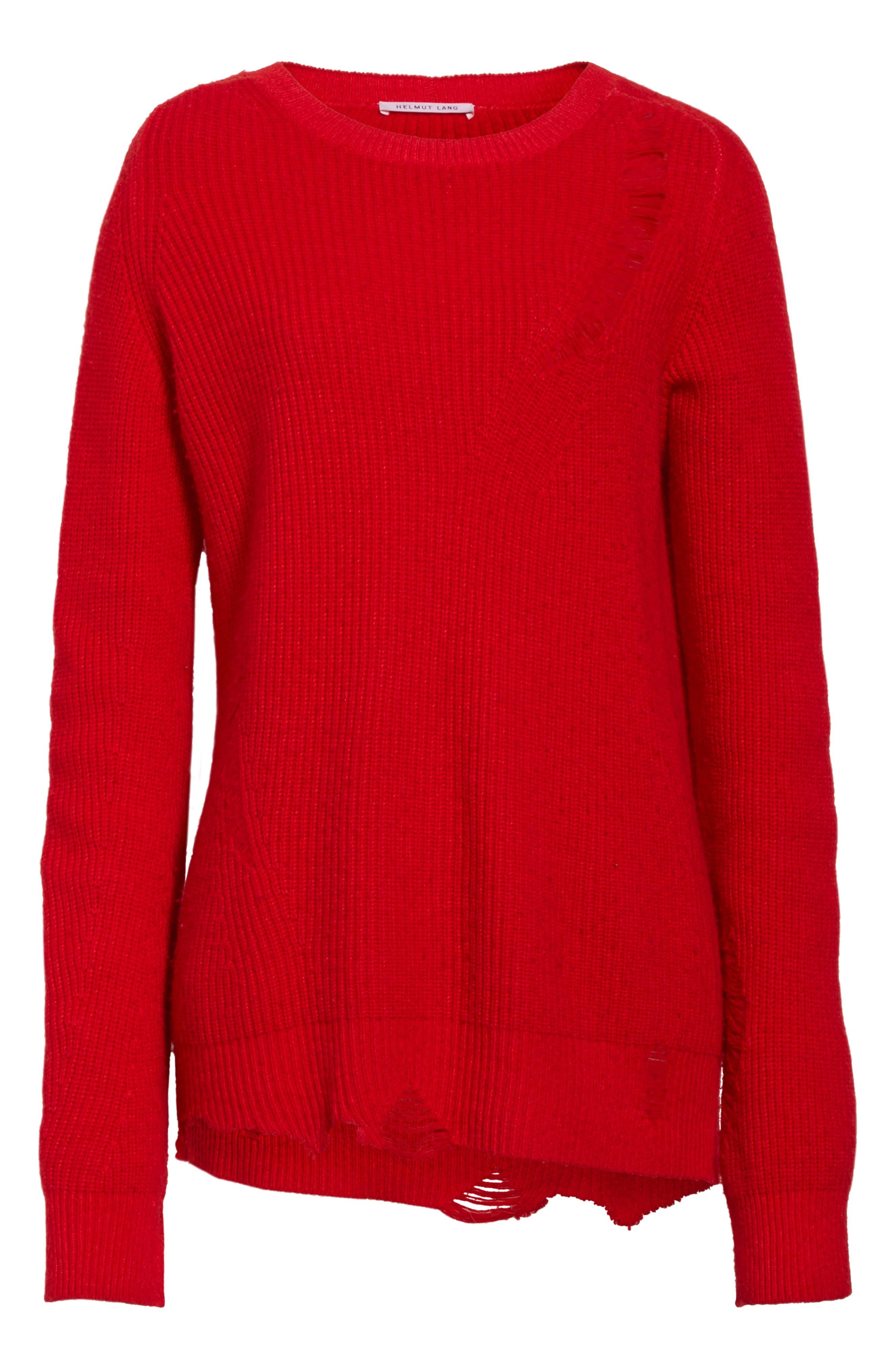 Alternate Image 7  - Helmut Lang Distressed Sweater