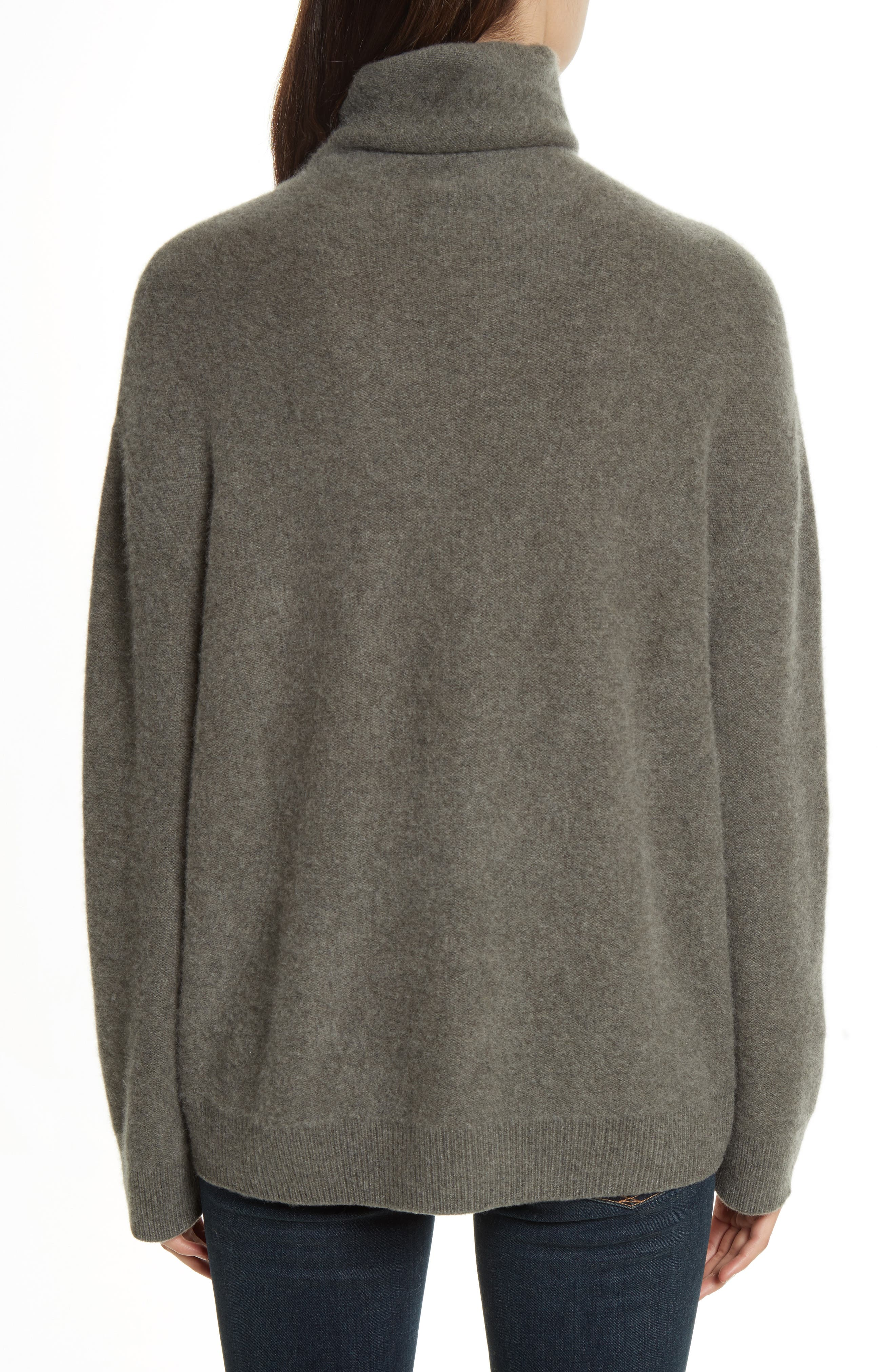 Boxy Mock Neck Cashmere Sweater,                             Alternate thumbnail 2, color,                             Desert Sage