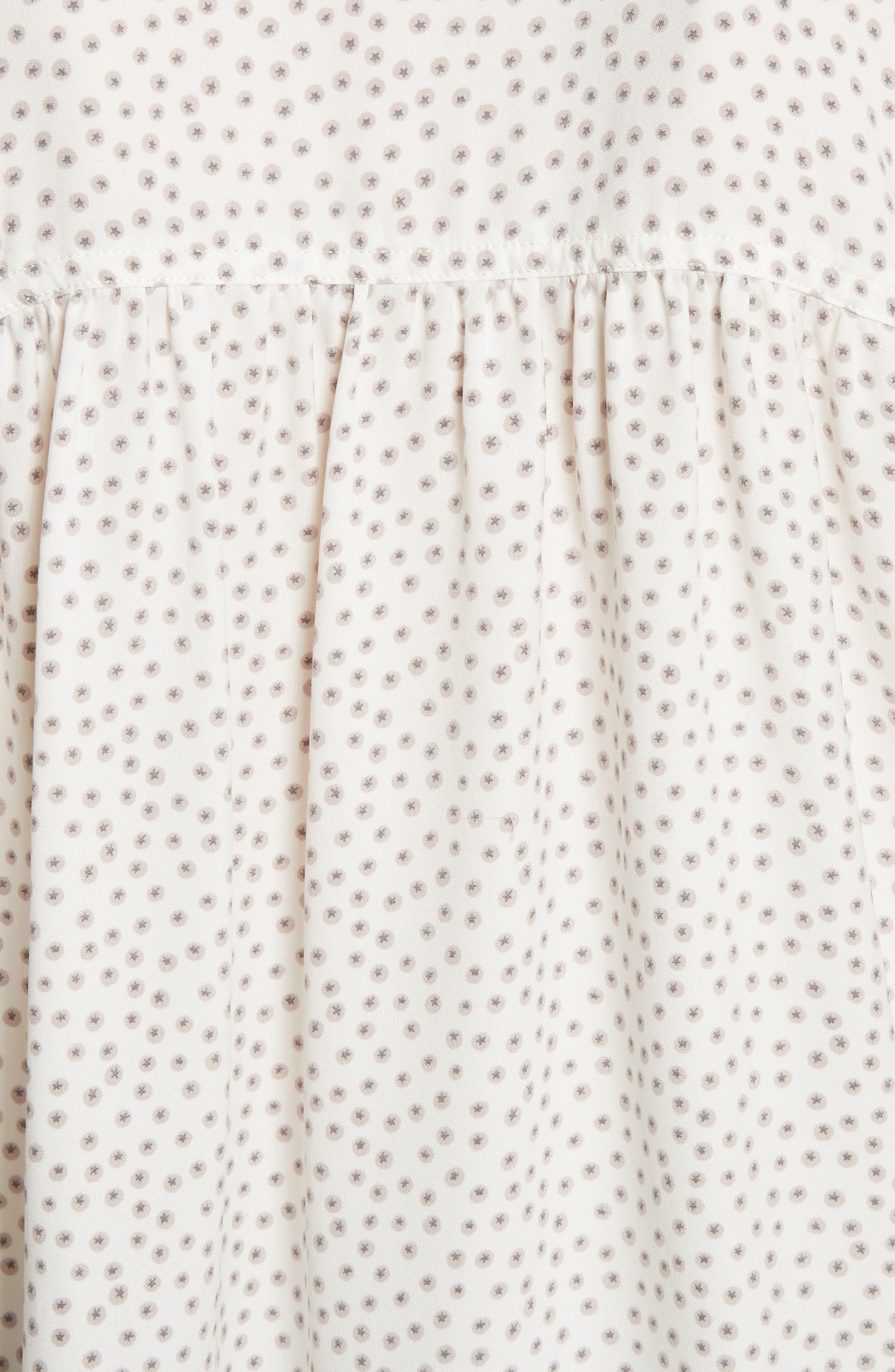 Alternate Image 5  - Vince Celestial Polka Dot Stretch Silk Top