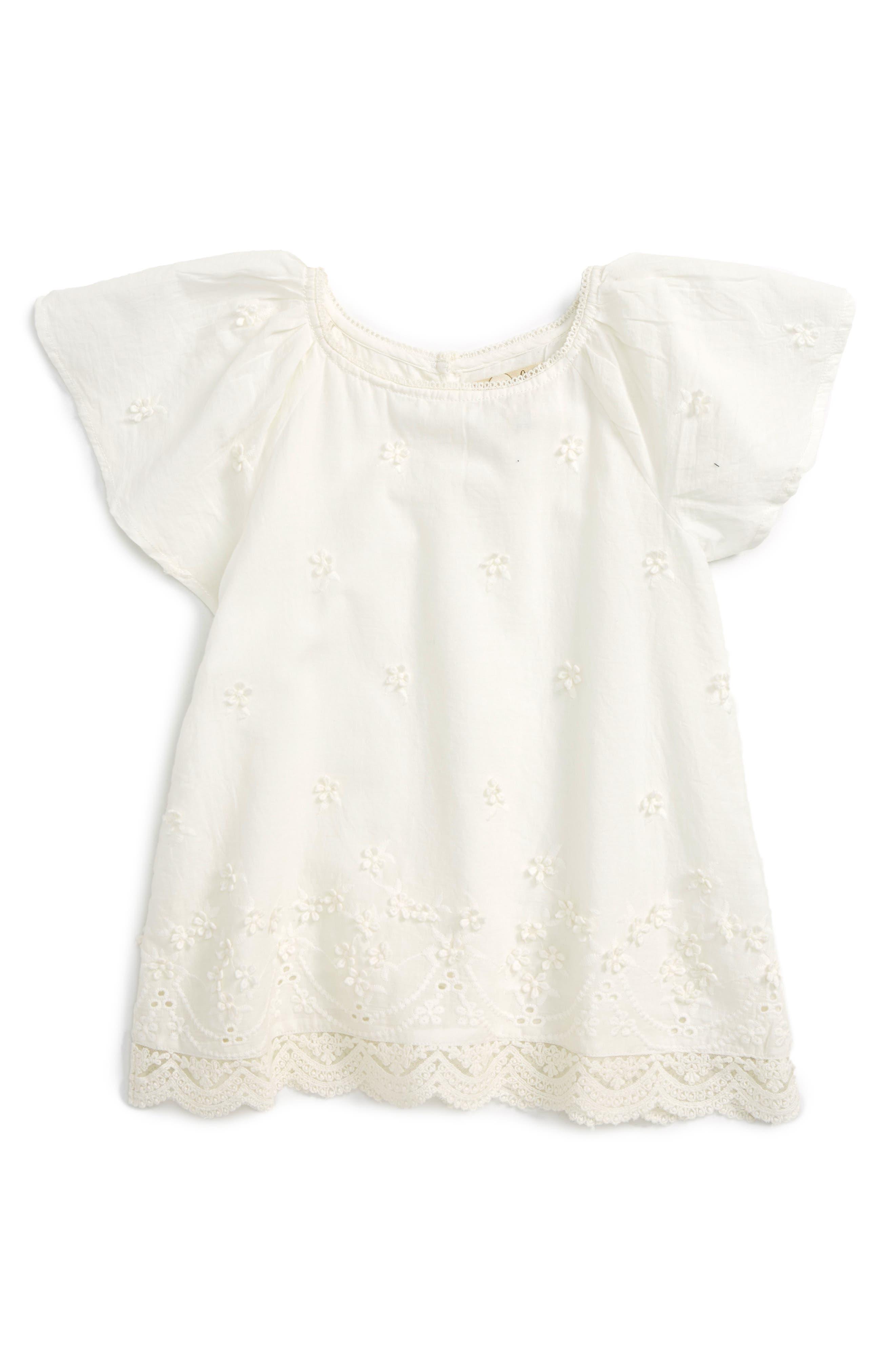 Peek Frances Flutter Sleeve Top (Toddler Girls, Little Girls & Big Girls)