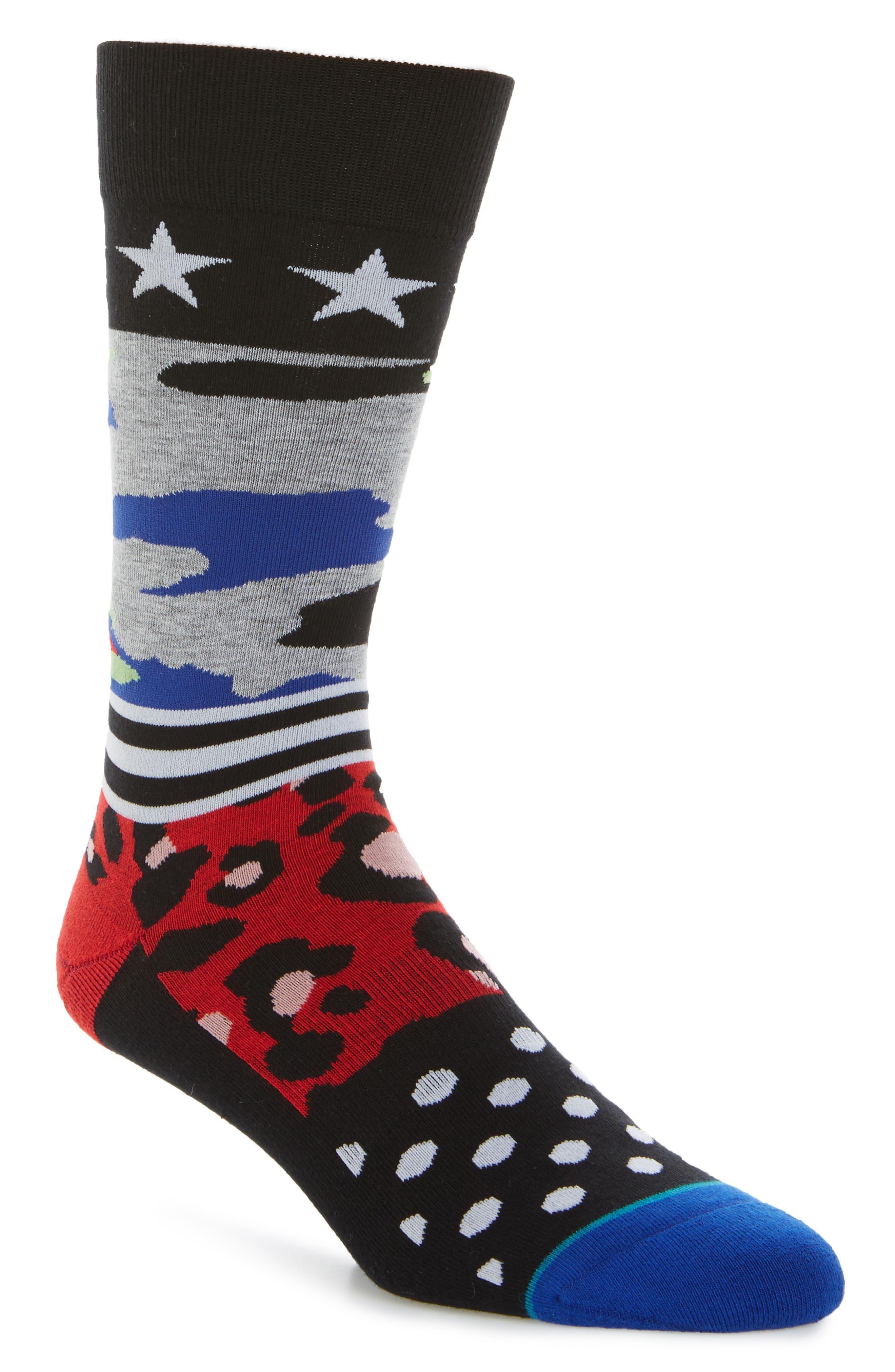 Harden Mixer Socks,                         Main,                         color, Black