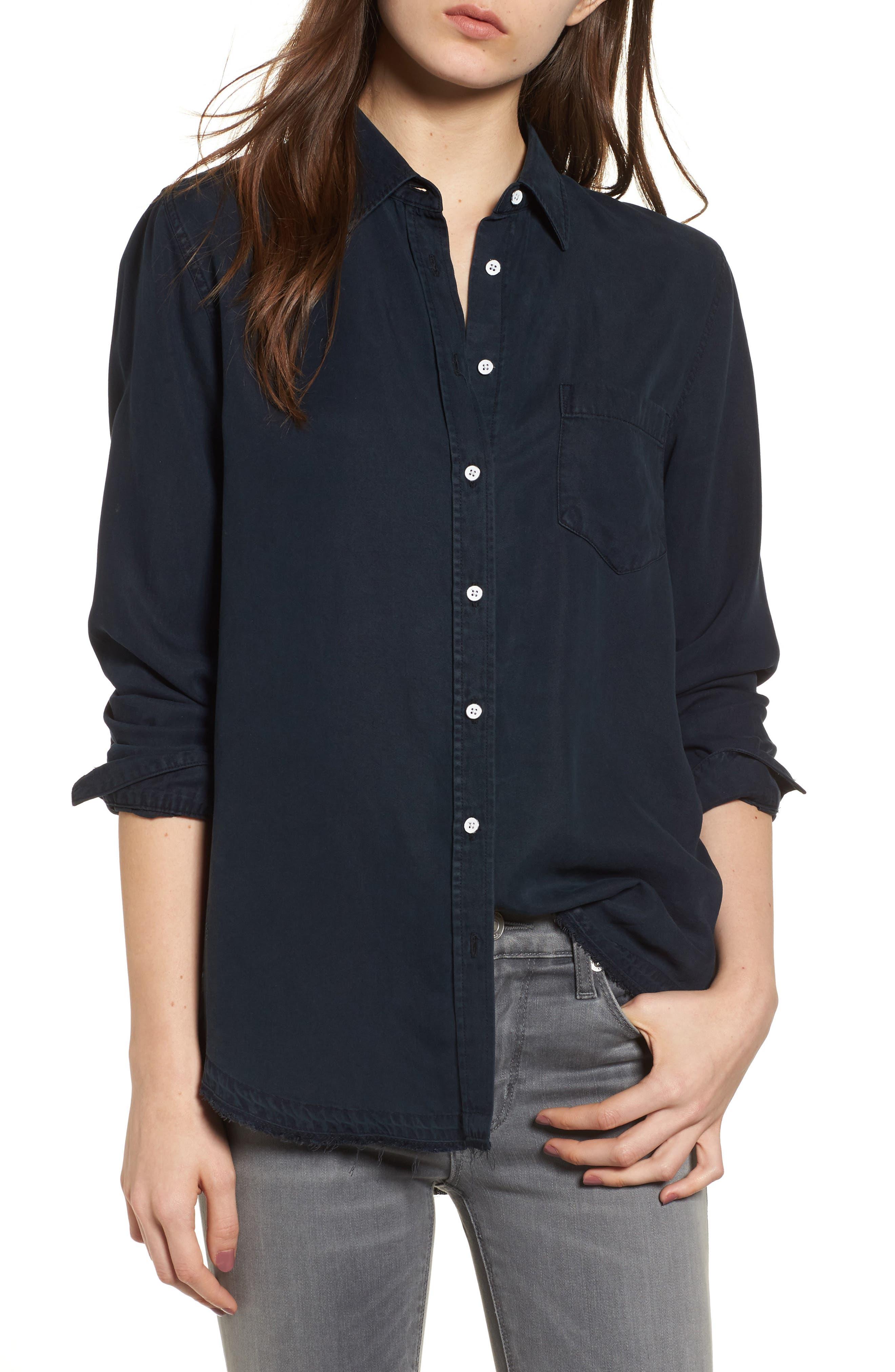 Mercer & Spring Shirt,                         Main,                         color, Washed Black Overdye