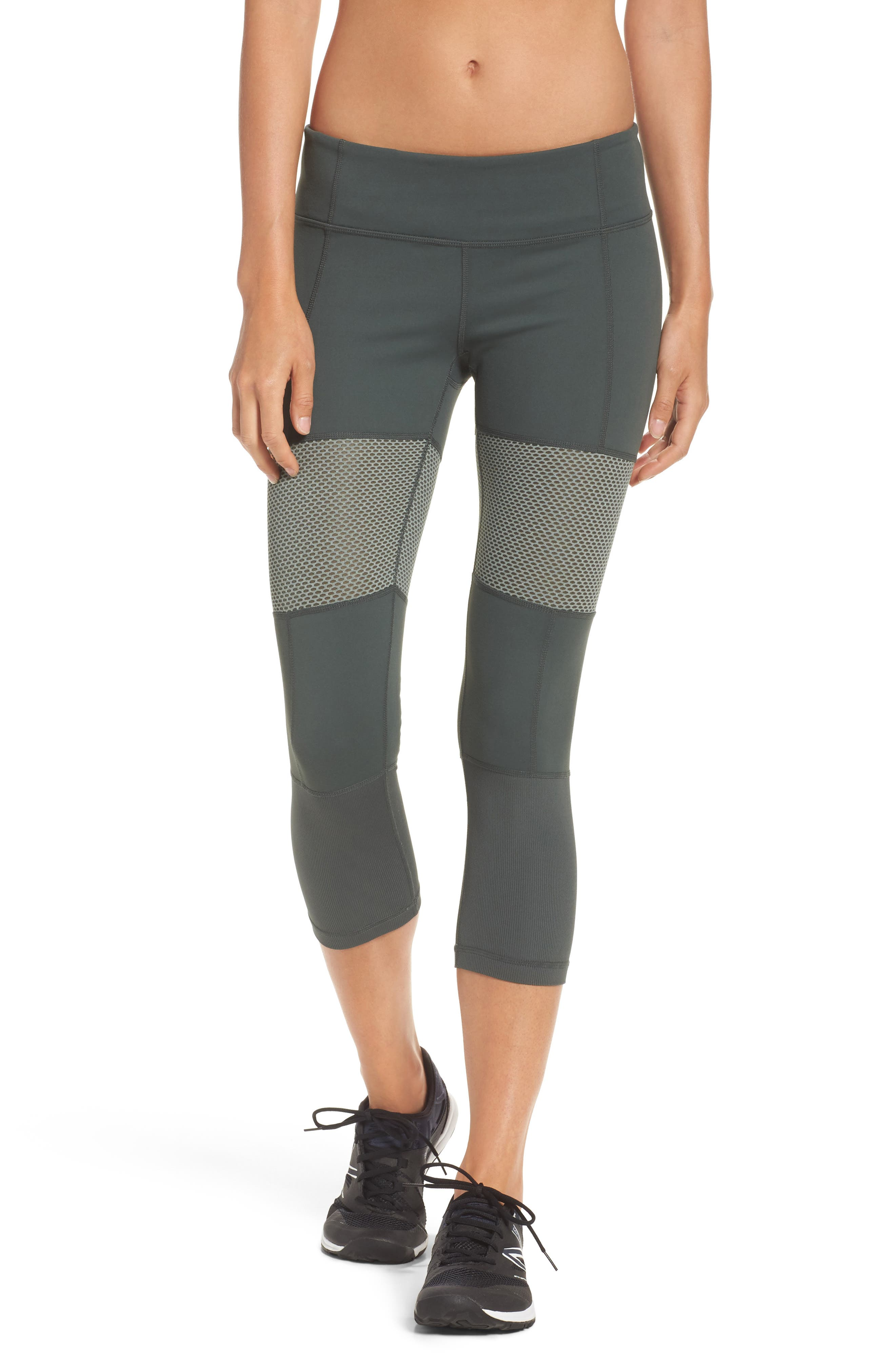 Blissed Out Crop Leggings,                         Main,                         color, Grey Urban