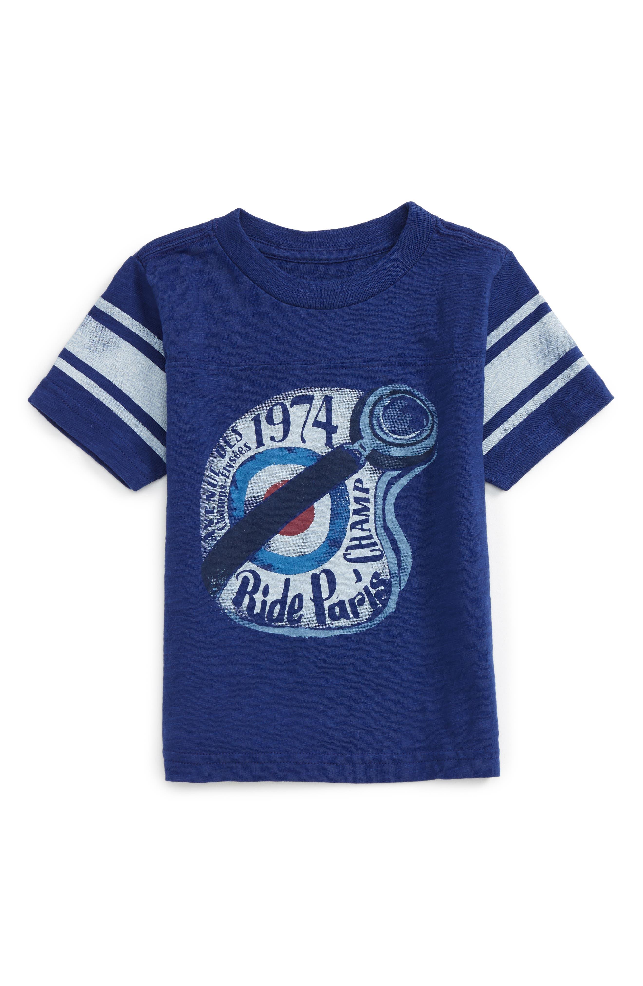 Alternate Image 1 Selected - Peek Helmet Graphic T-Shirt (Toddler Boys, Little Boys & Big Boys)
