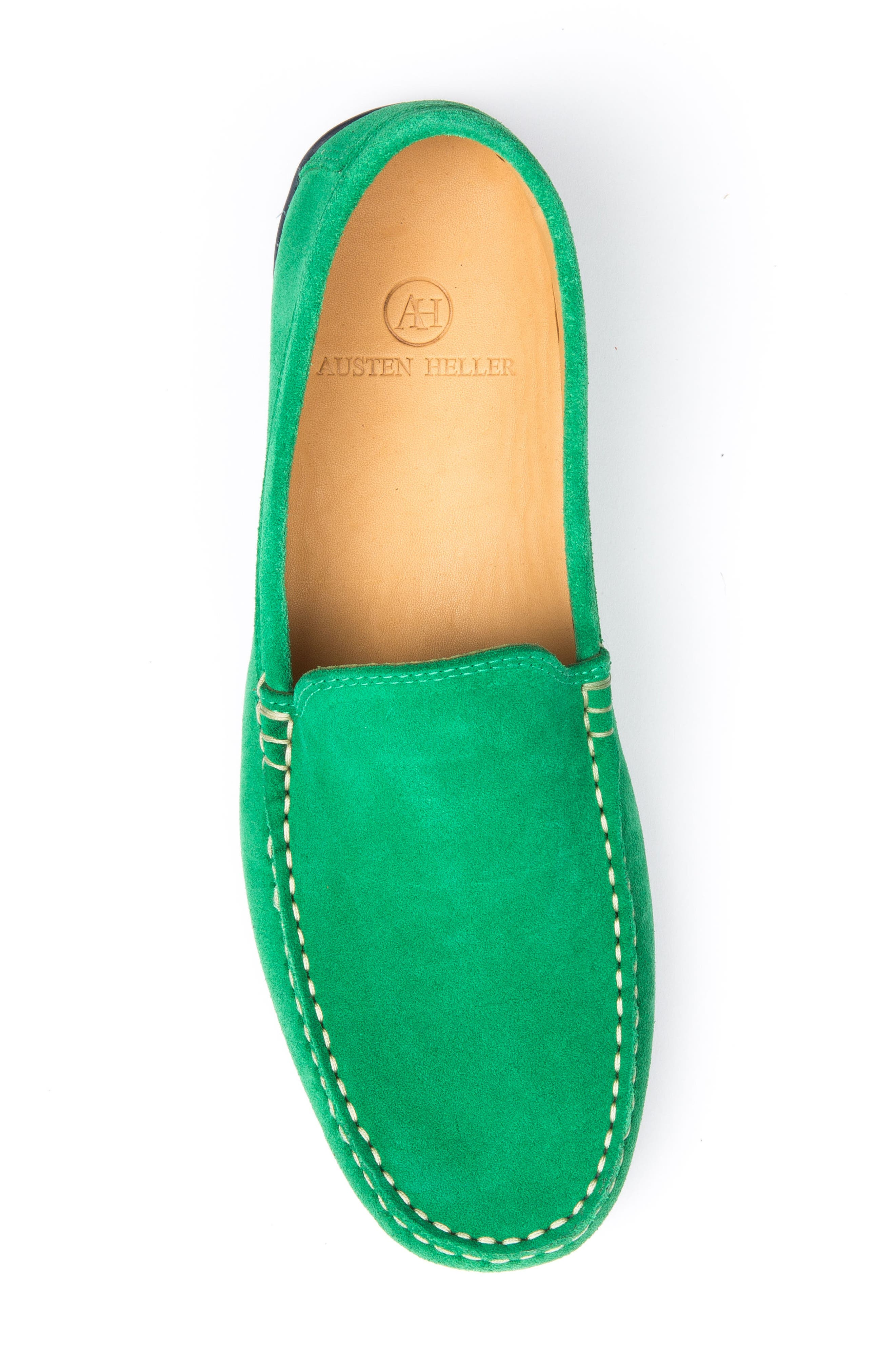 Fairways Driving Shoe,                             Alternate thumbnail 5, color,                             Green Suede