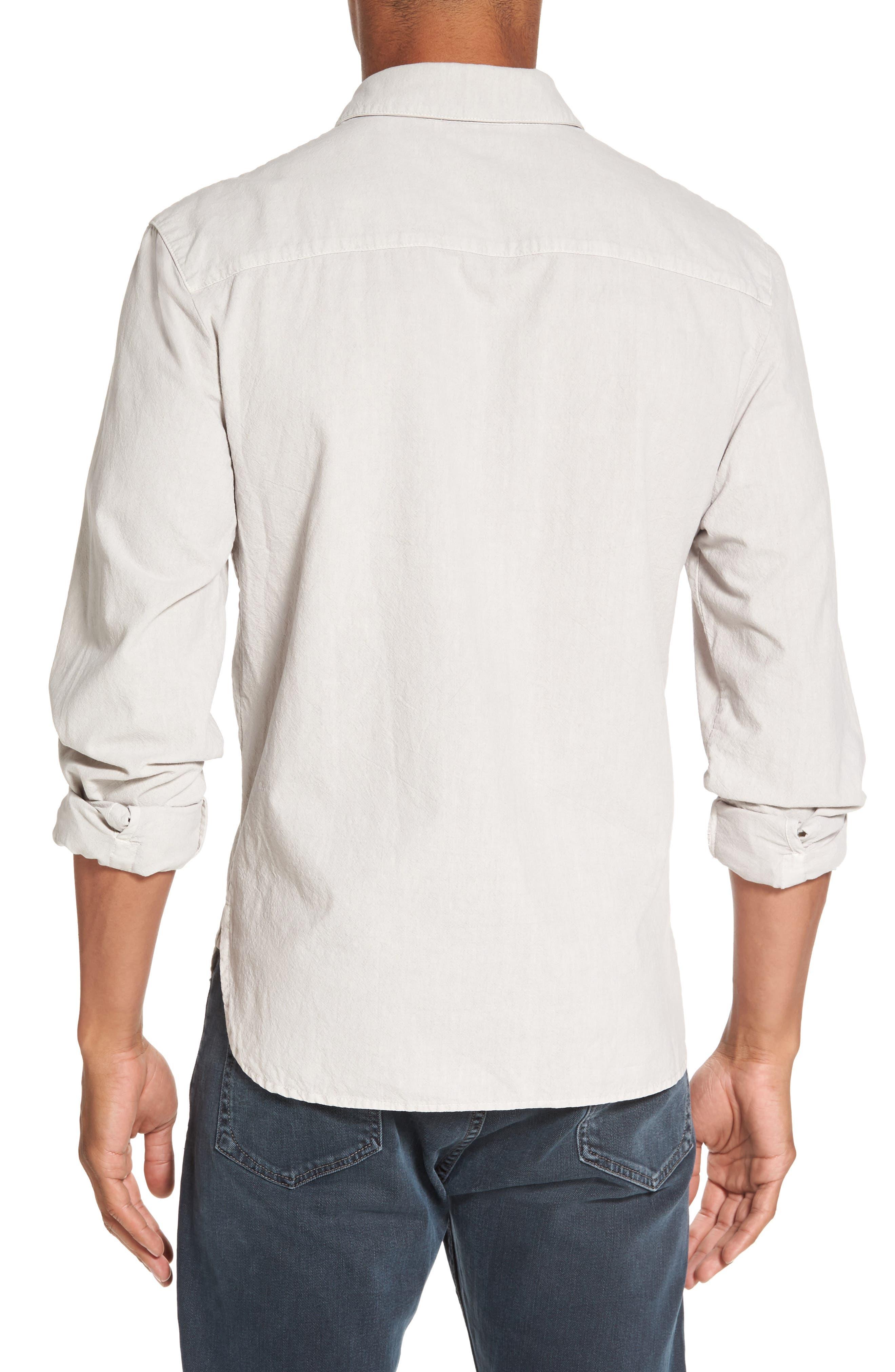 Slim Cotton Sport Shirt,                             Alternate thumbnail 2, color,                             Concrete Dust Pigment