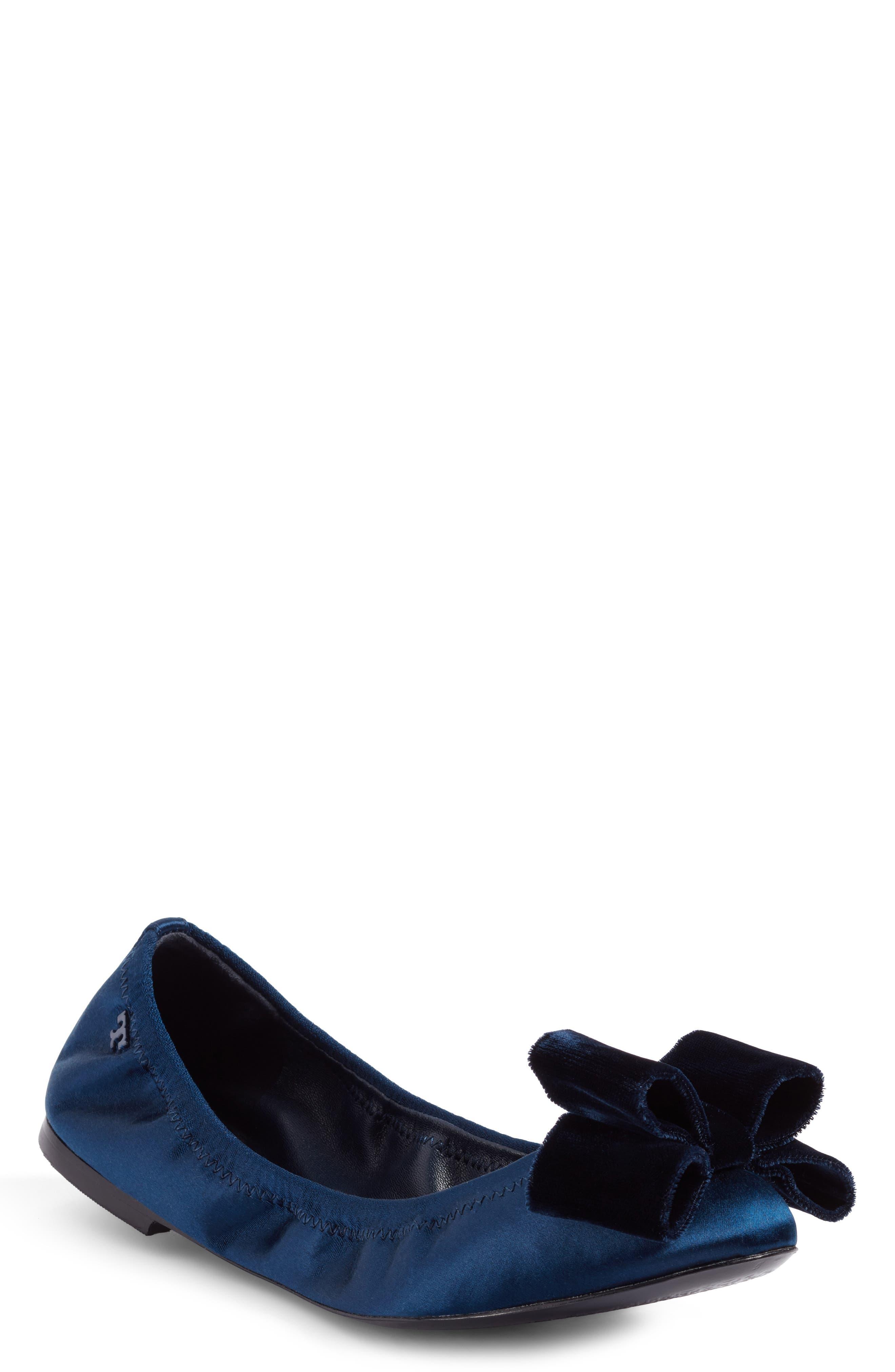 Tory Burch Viola Bow Ballet Flat (Women)