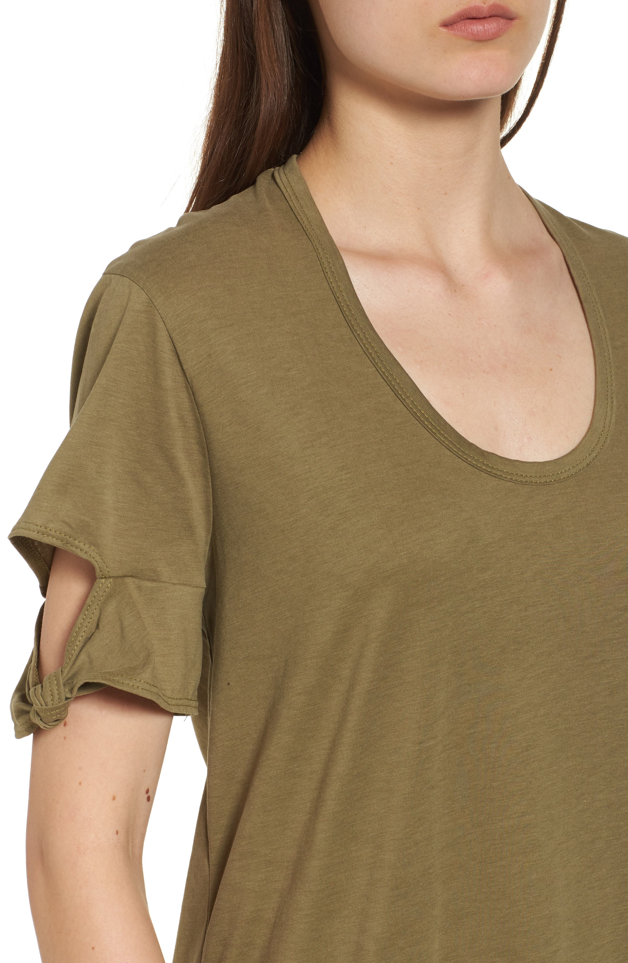Alternate Image 4  - PST by Project Social T Knotted Sleeve T-Shirt Dress