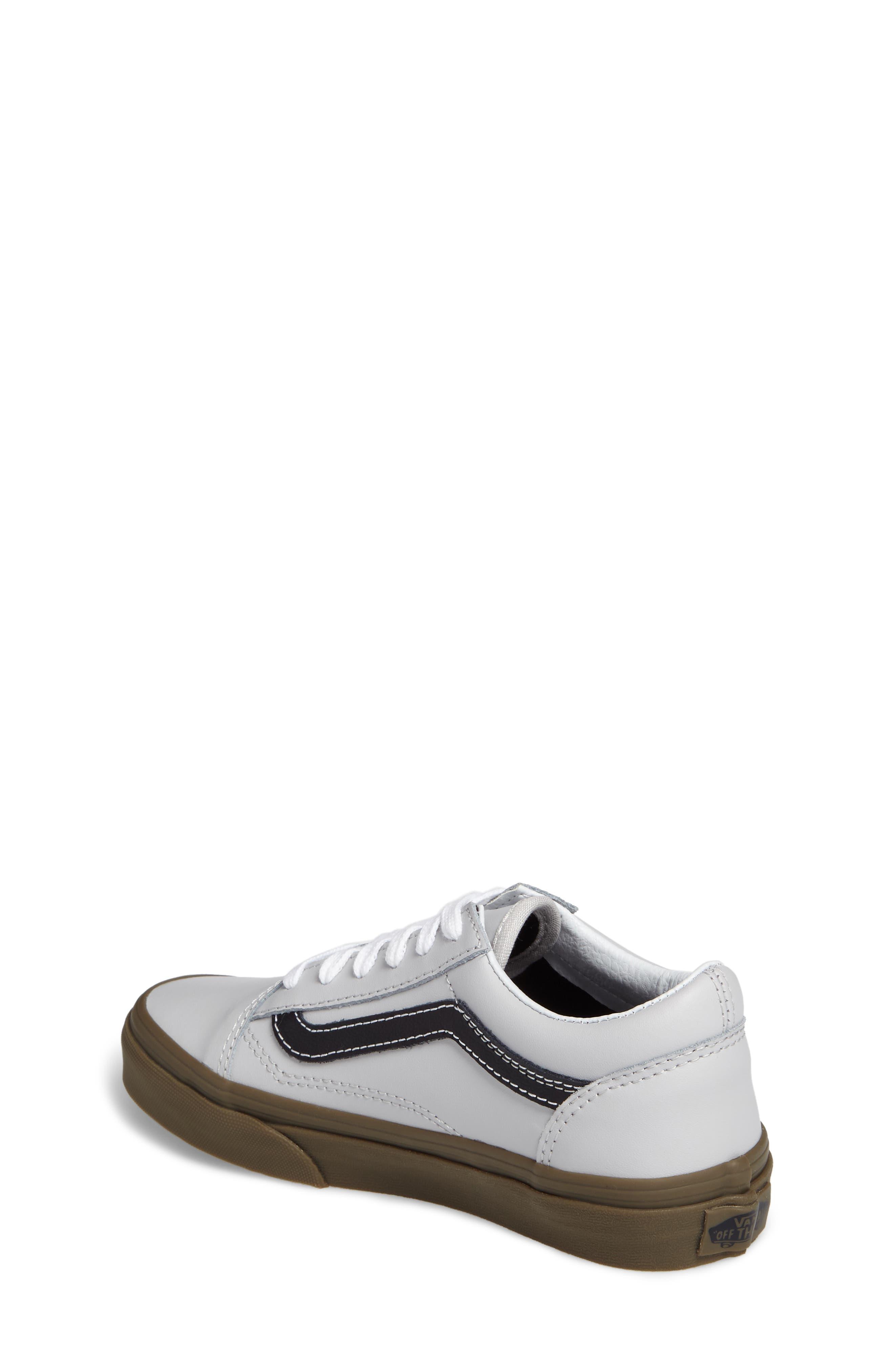 Old Skool Sneaker,                             Alternate thumbnail 2, color,                             Bleacher Gray/ Black/ Gum