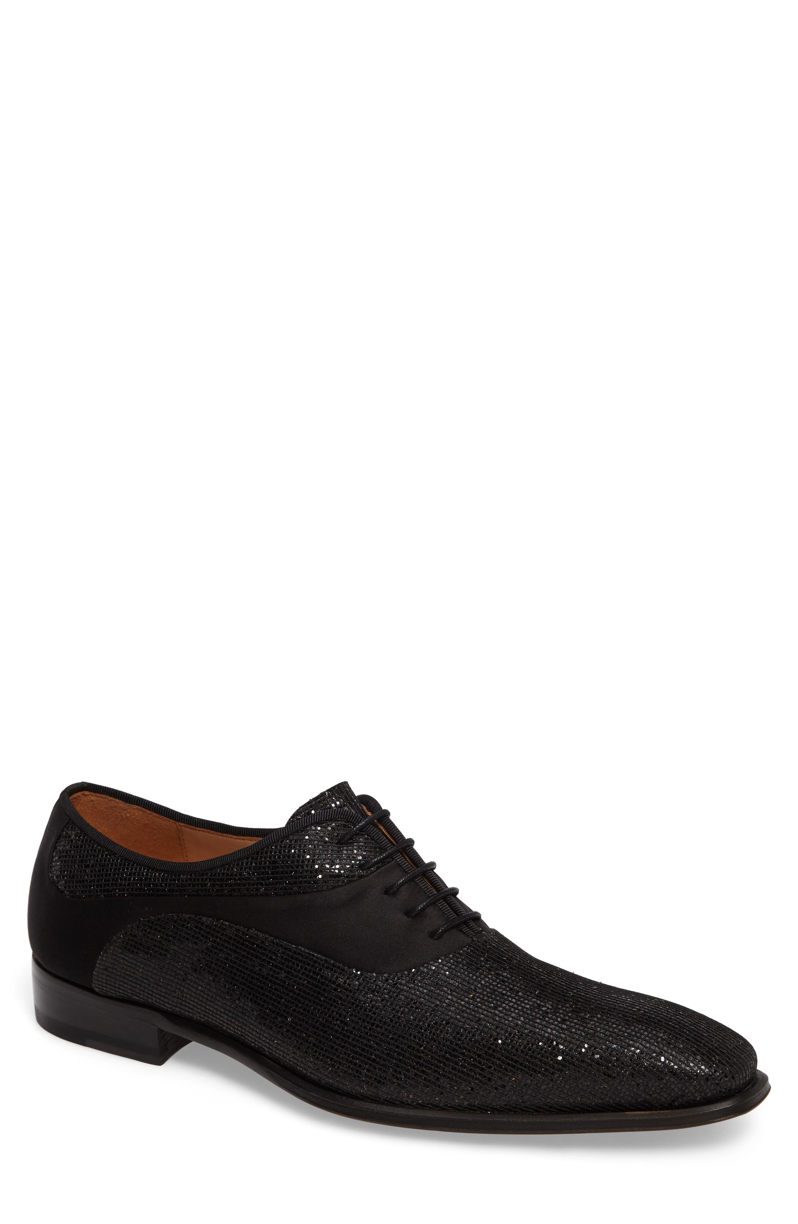 Honore Plain Toe Oxford,                         Main,                         color, Black Suede