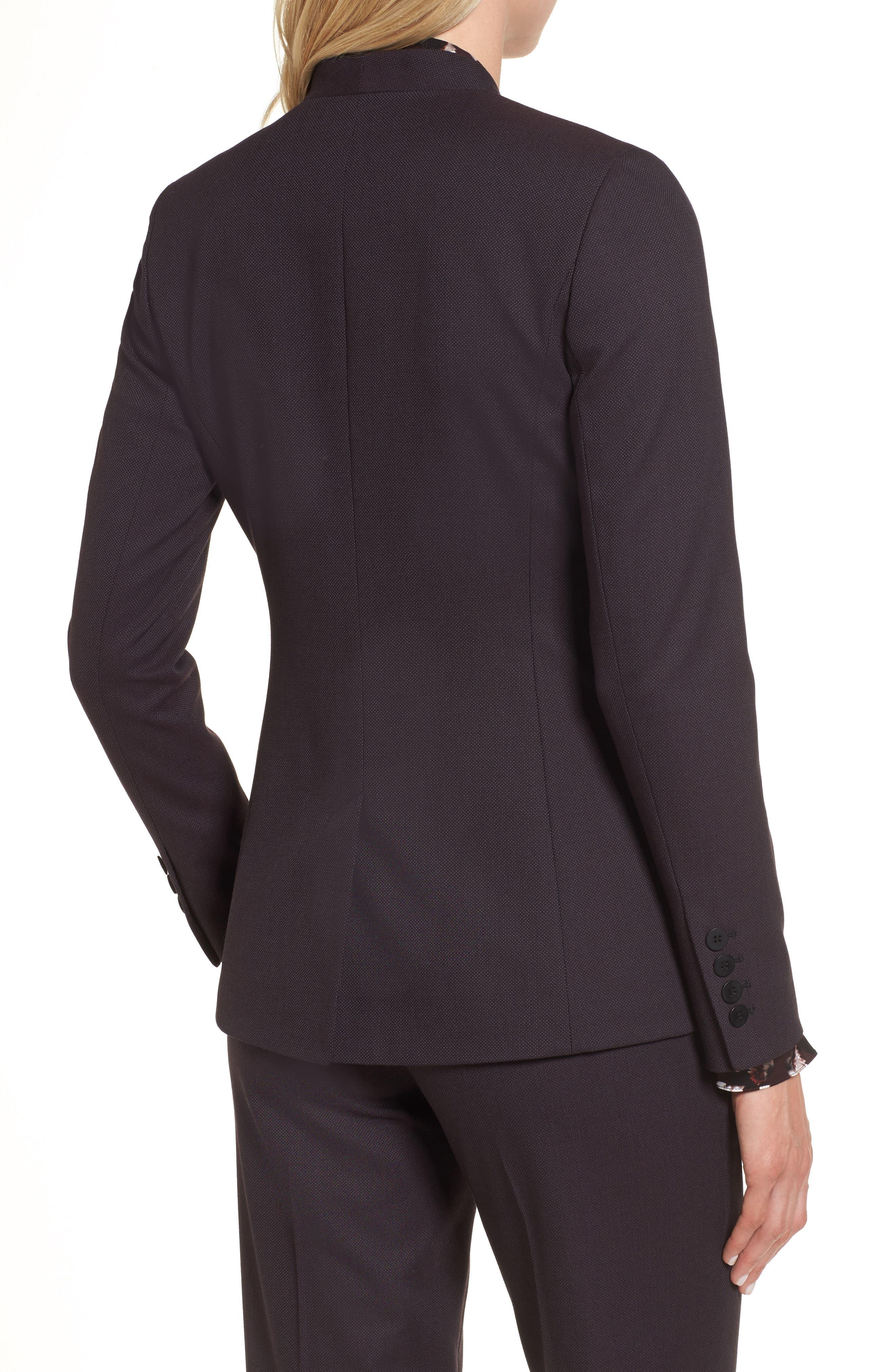 One-Button Suit Jacket,                             Alternate thumbnail 3, color,                             Burgundy