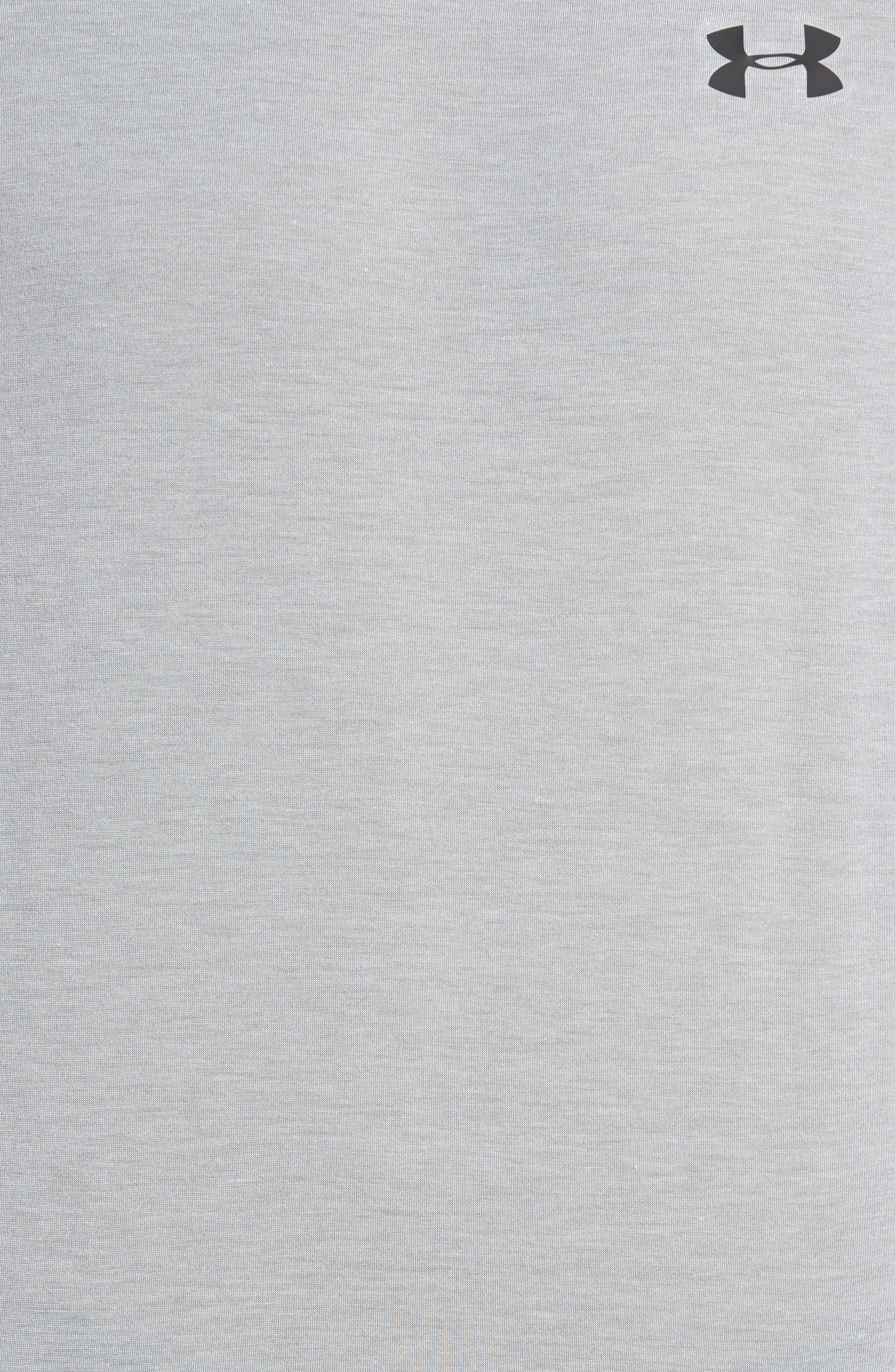 Threadborne Muscle Tee,                             Alternate thumbnail 6, color,                             True Grey Heather/ Black