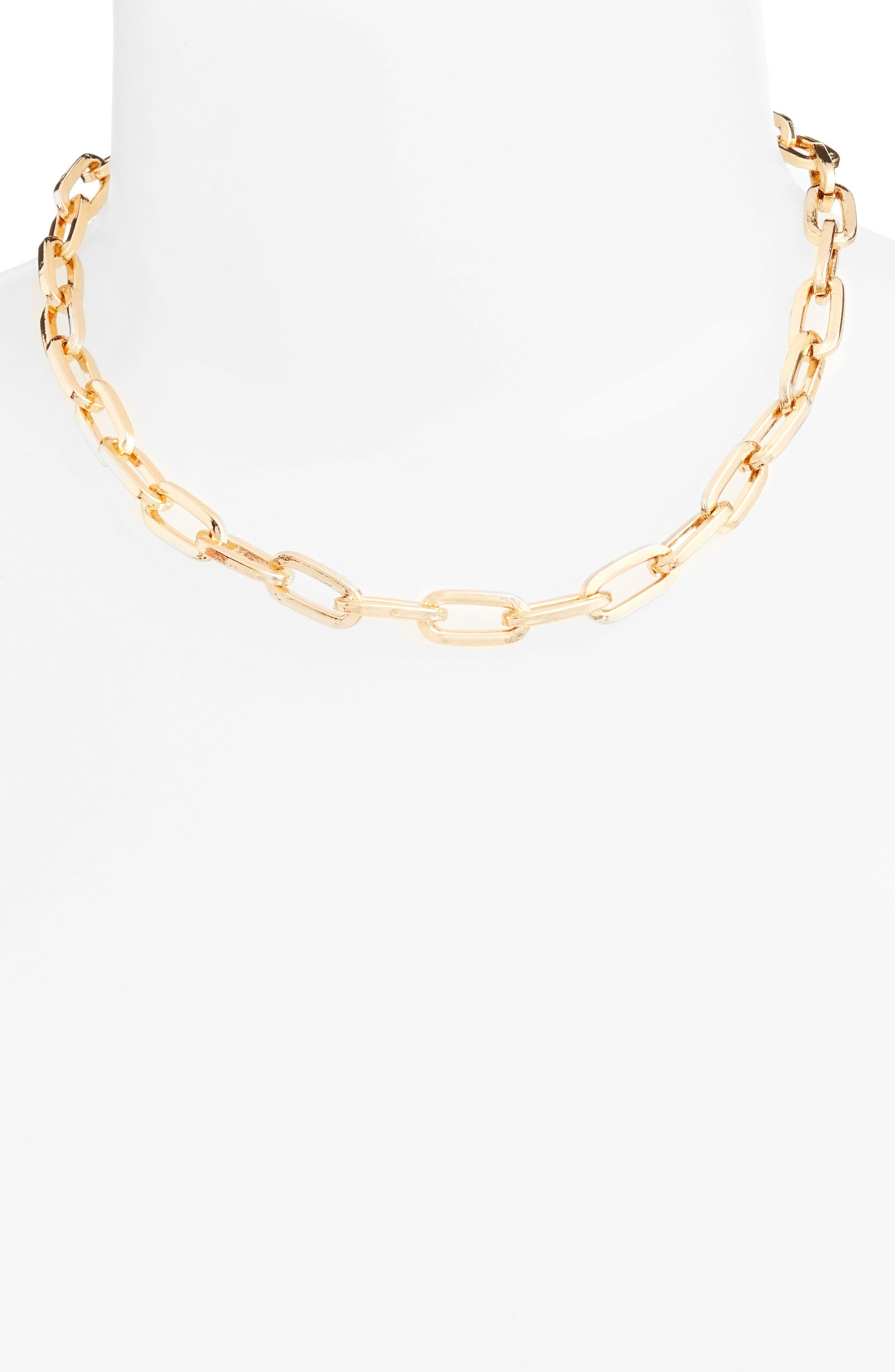 REBECCA MINKOFF Signature Link Necklace