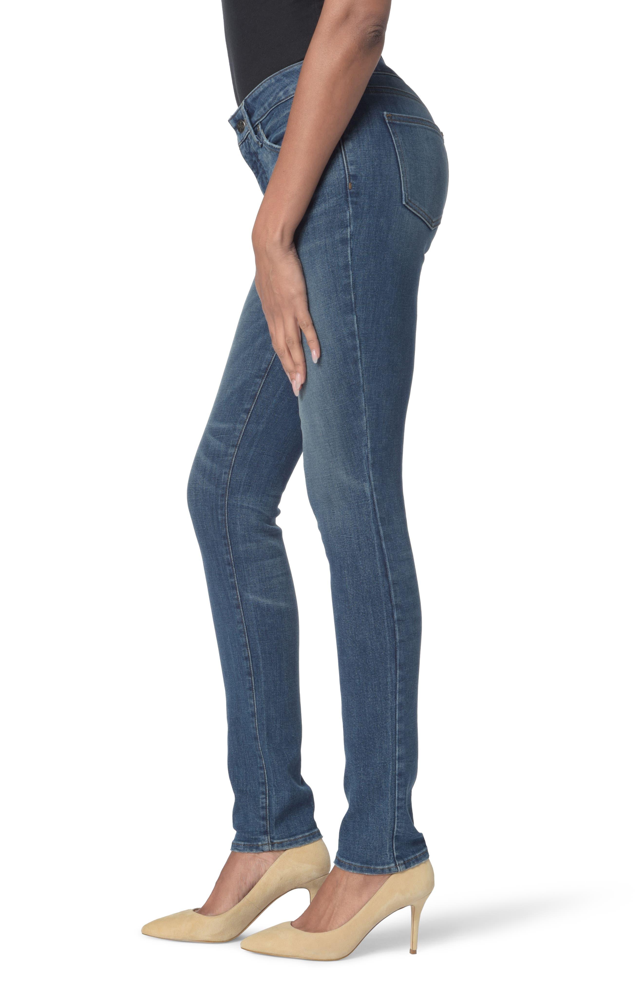 Alina Stretch Skinny Jeans,                             Alternate thumbnail 3, color,                             Noma