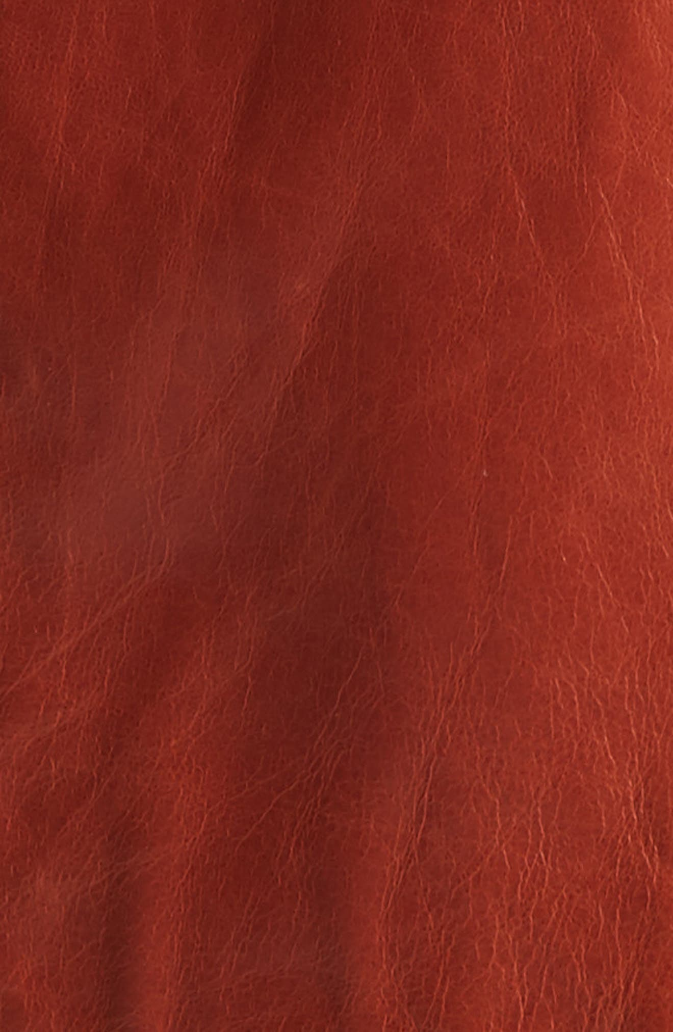 Leather Trench,                             Alternate thumbnail 6, color,                             Harvest