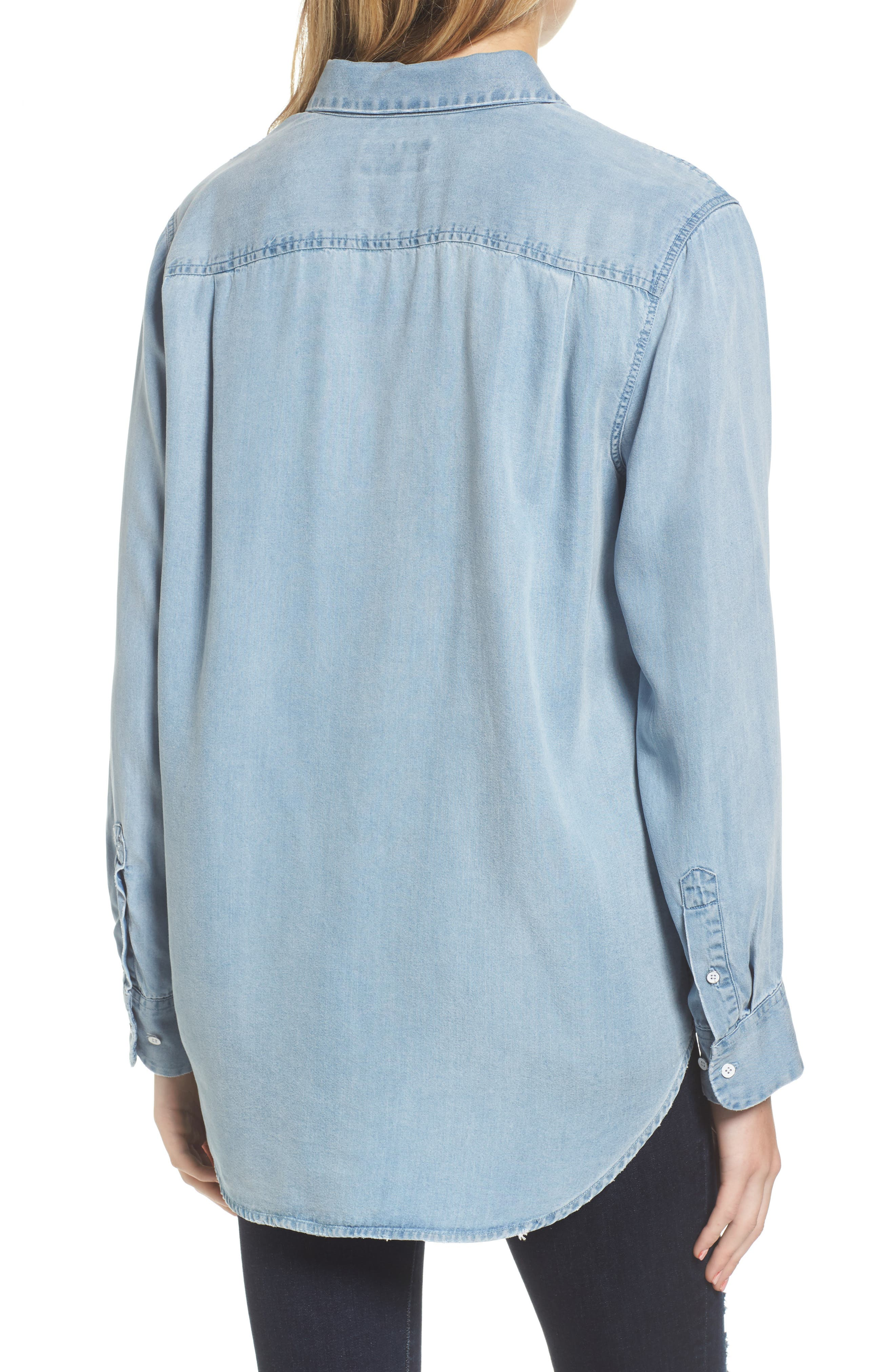 Alternate Image 2  - DL1961 x The Blue Shirt Shop Nassau & Manhattan Boyfriend Shirt