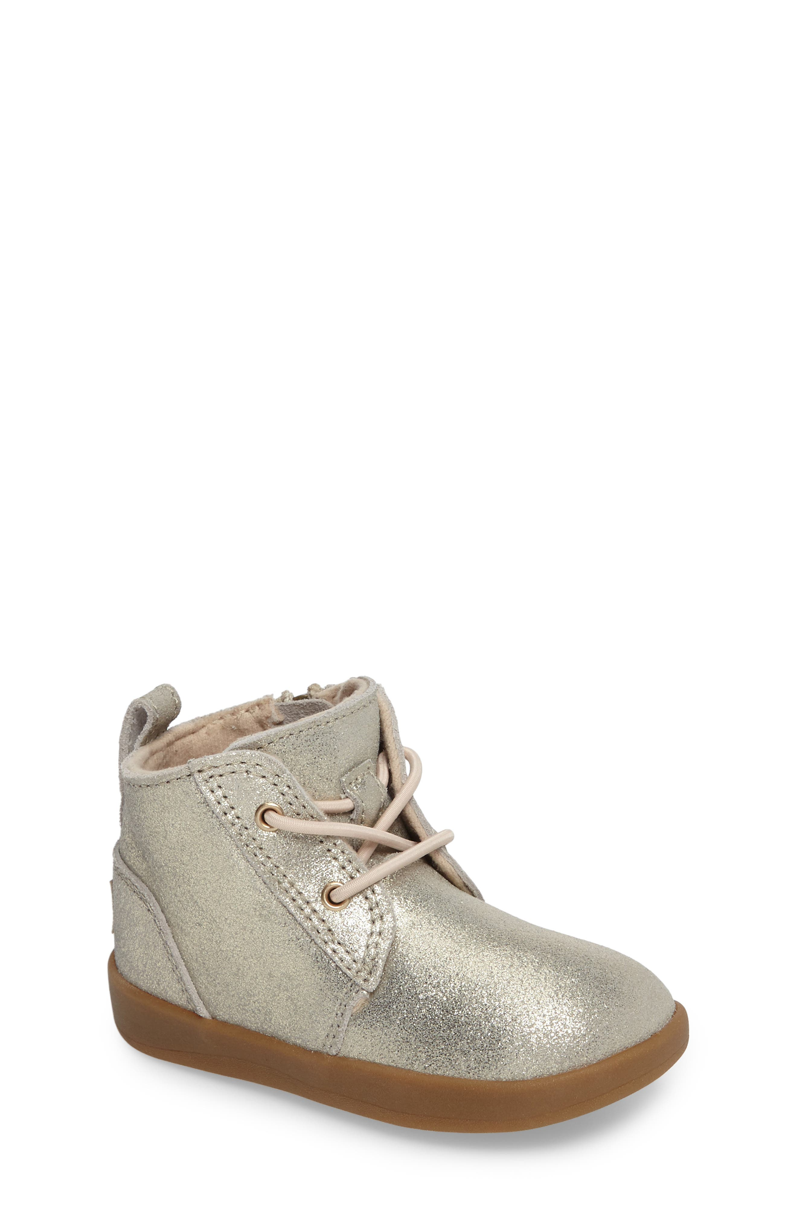 UGG® Kristjan Metallic Sneaker Boot (Baby & Walker)