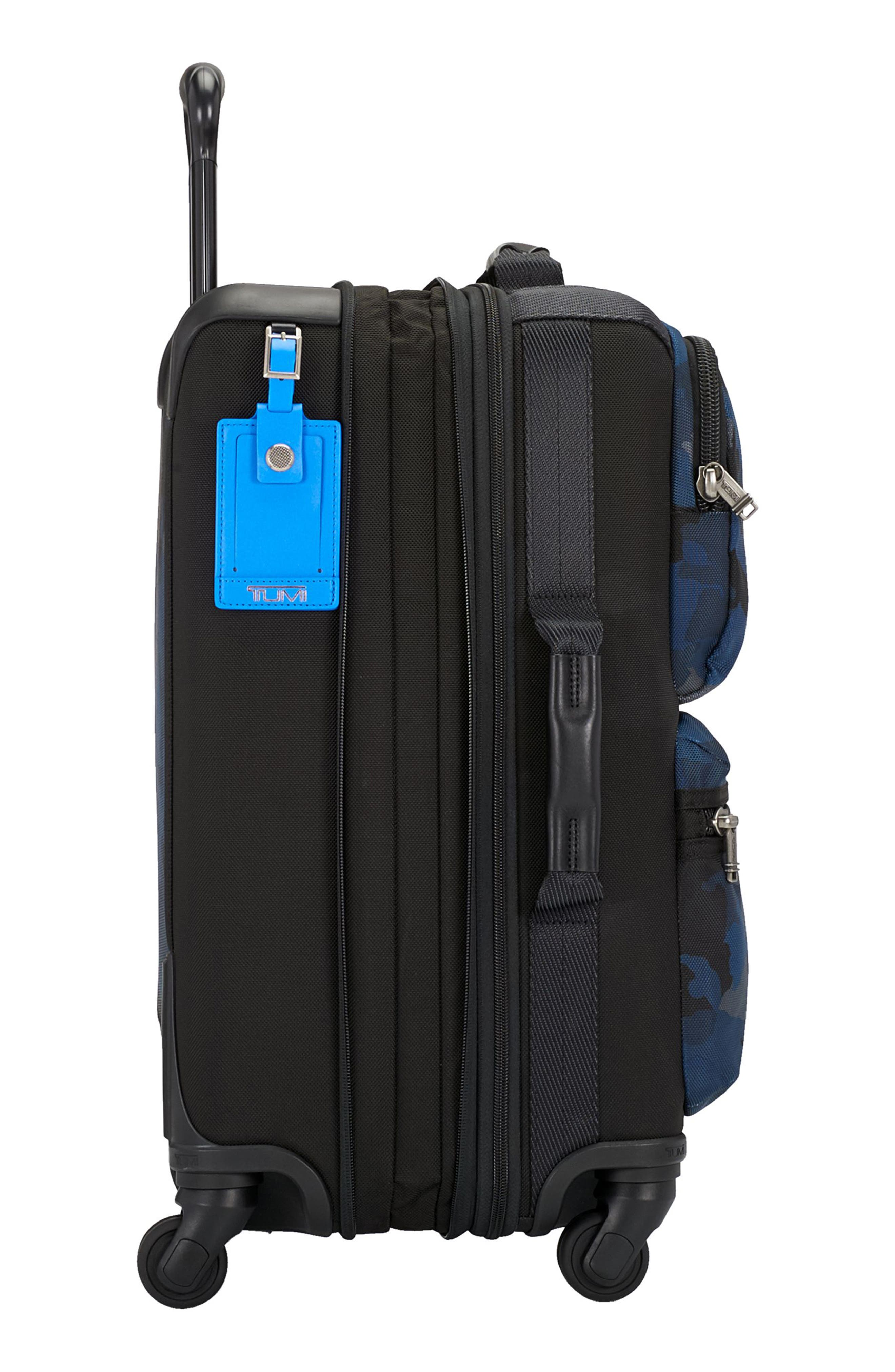 Alpha Bravo Kirtland 22 Inch Expandable Continental Wheeled Carry-On,                             Alternate thumbnail 4, color,                             Blue Camo