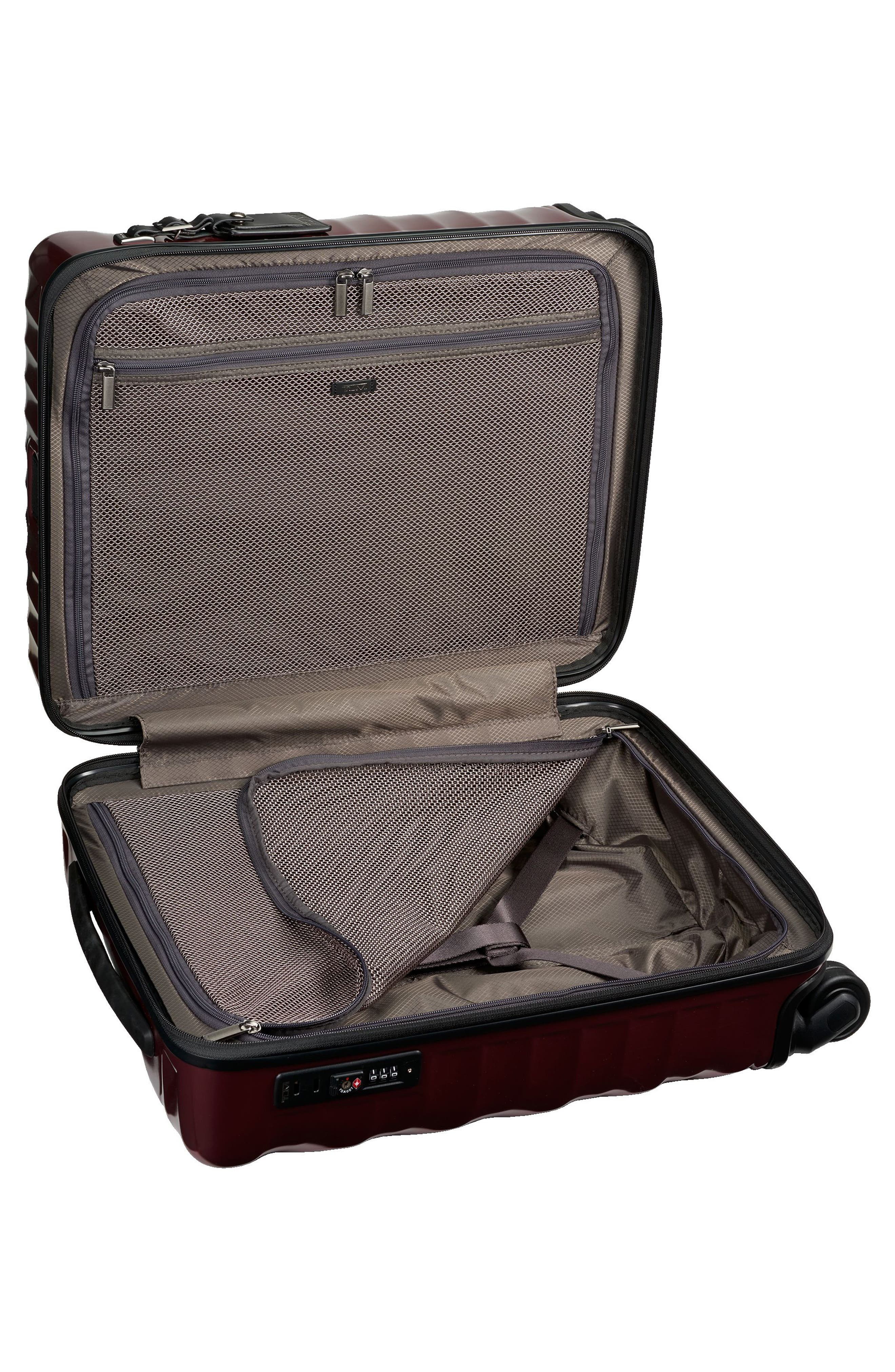 19 Degree 22-Inch Continental Wheeled Carry-On,                             Alternate thumbnail 3, color,                             Bordeaux