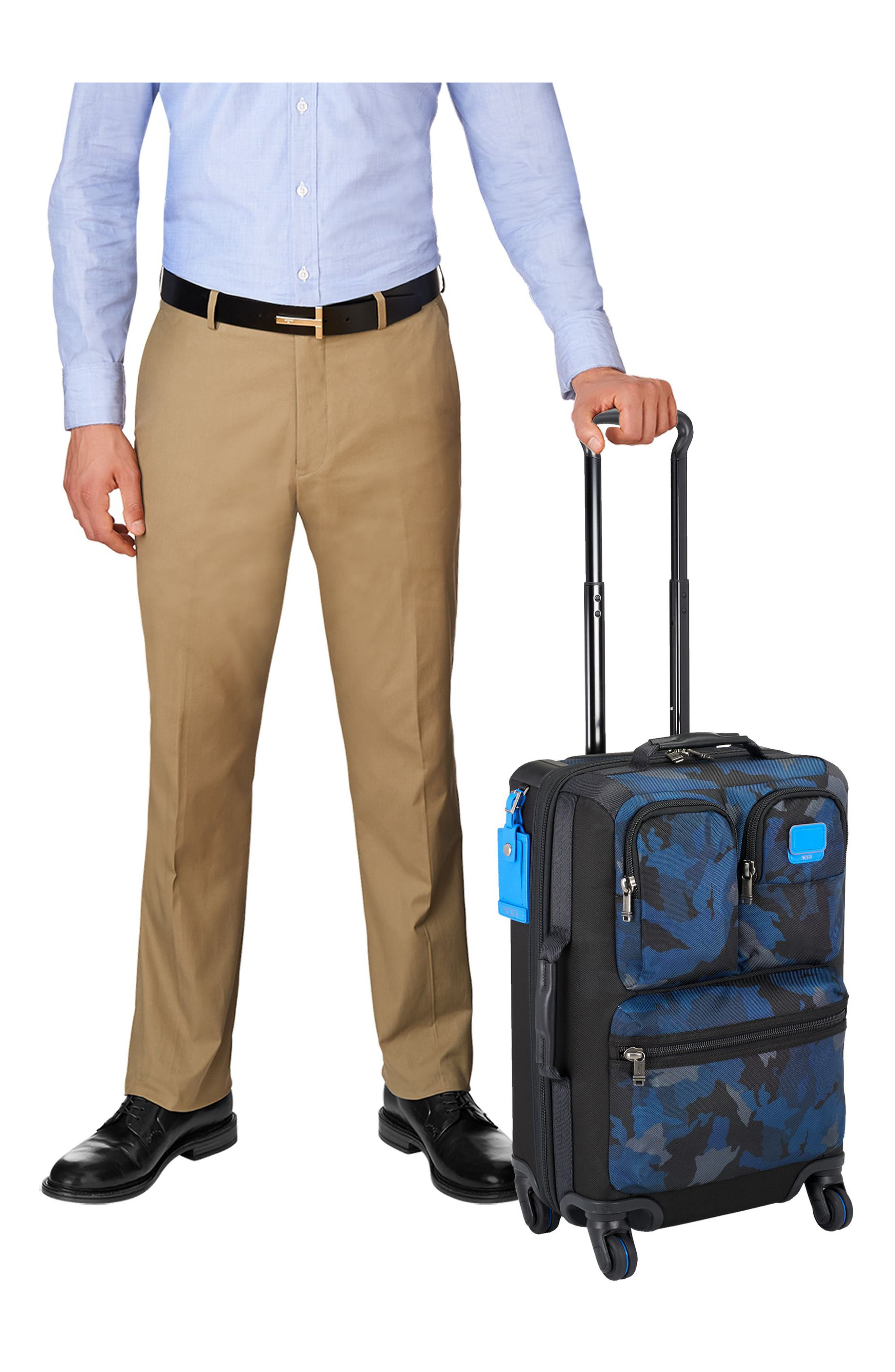 Alpha Bravo Kirtland 22 Inch Expandable Continental Wheeled Carry-On,                             Alternate thumbnail 6, color,                             Blue Camo