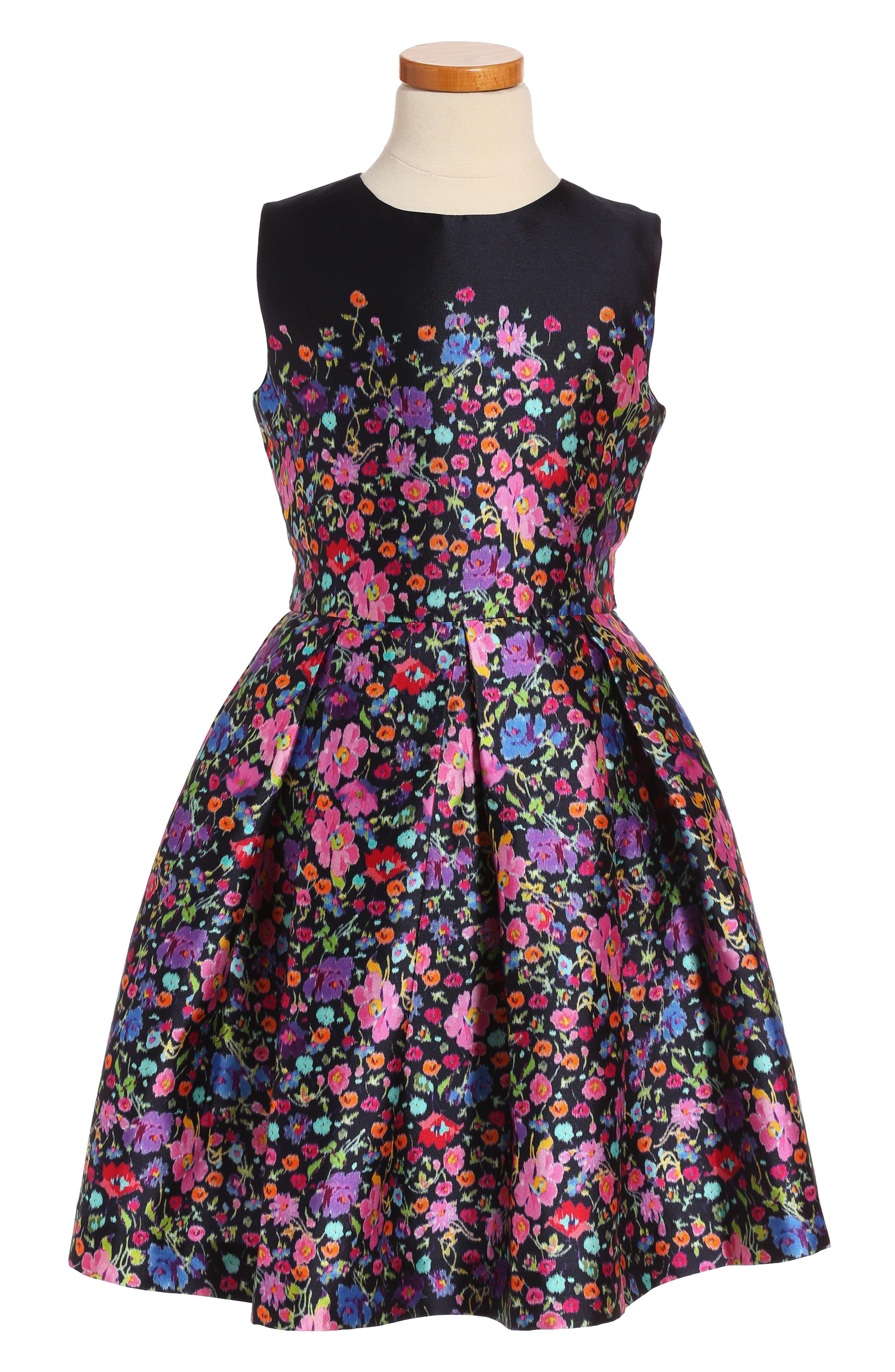 Oscar de la Renta Chine Garden Mikado Party Dress (Big Girls)