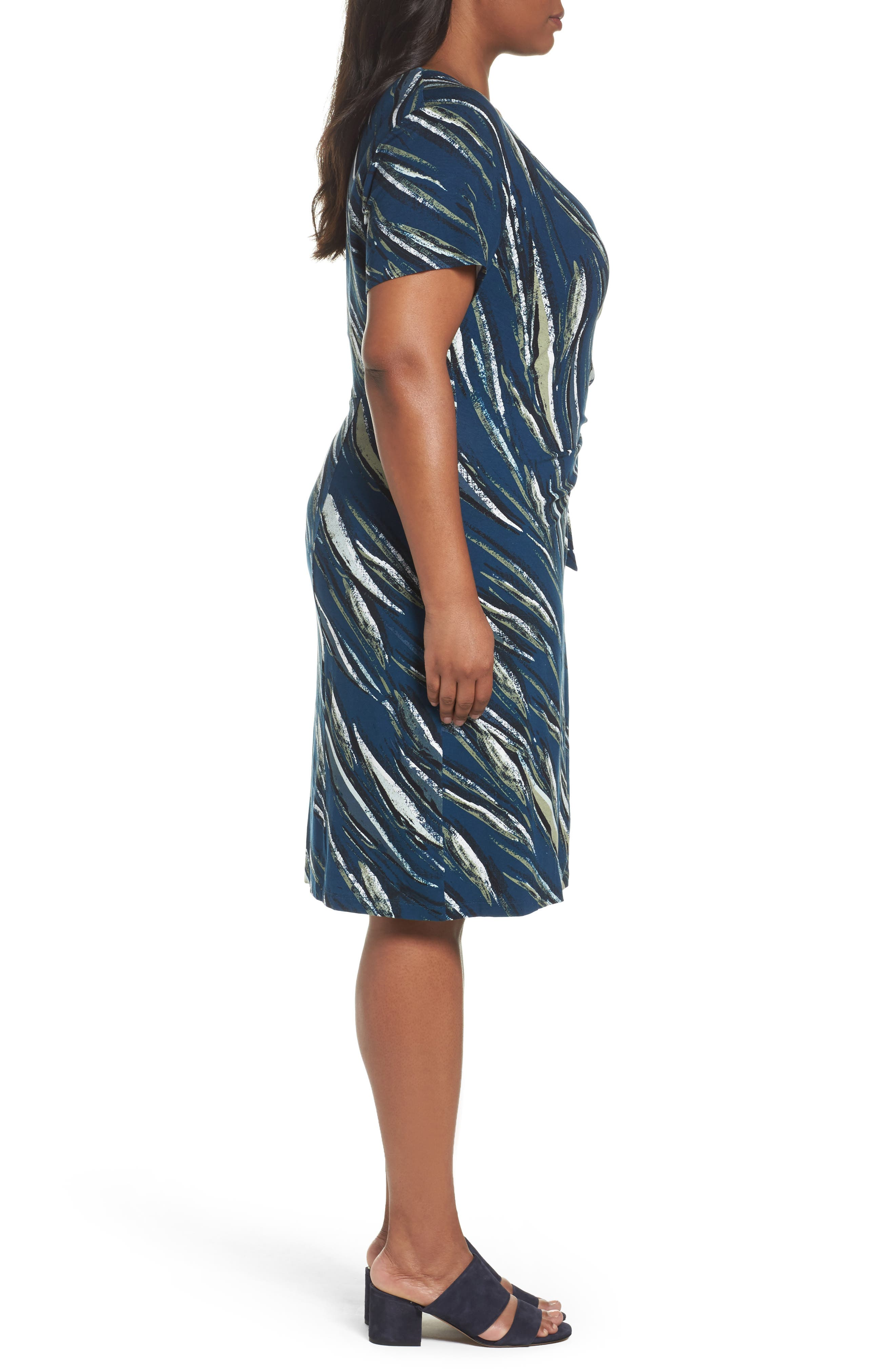 Tiger Lily Twist Front Sheath Dress,                             Alternate thumbnail 3, color,                             Multi