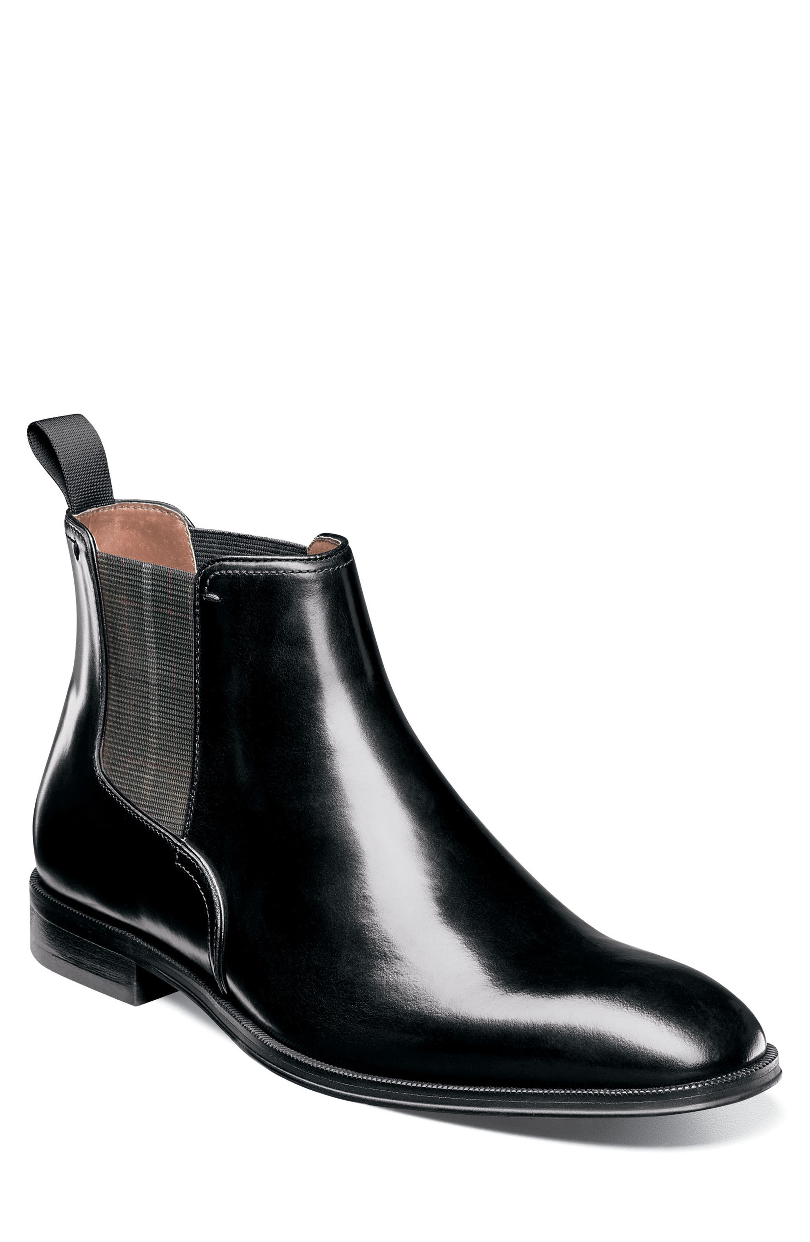 Belfast Chelsea Boot,                             Main thumbnail 1, color,                             Black Leather