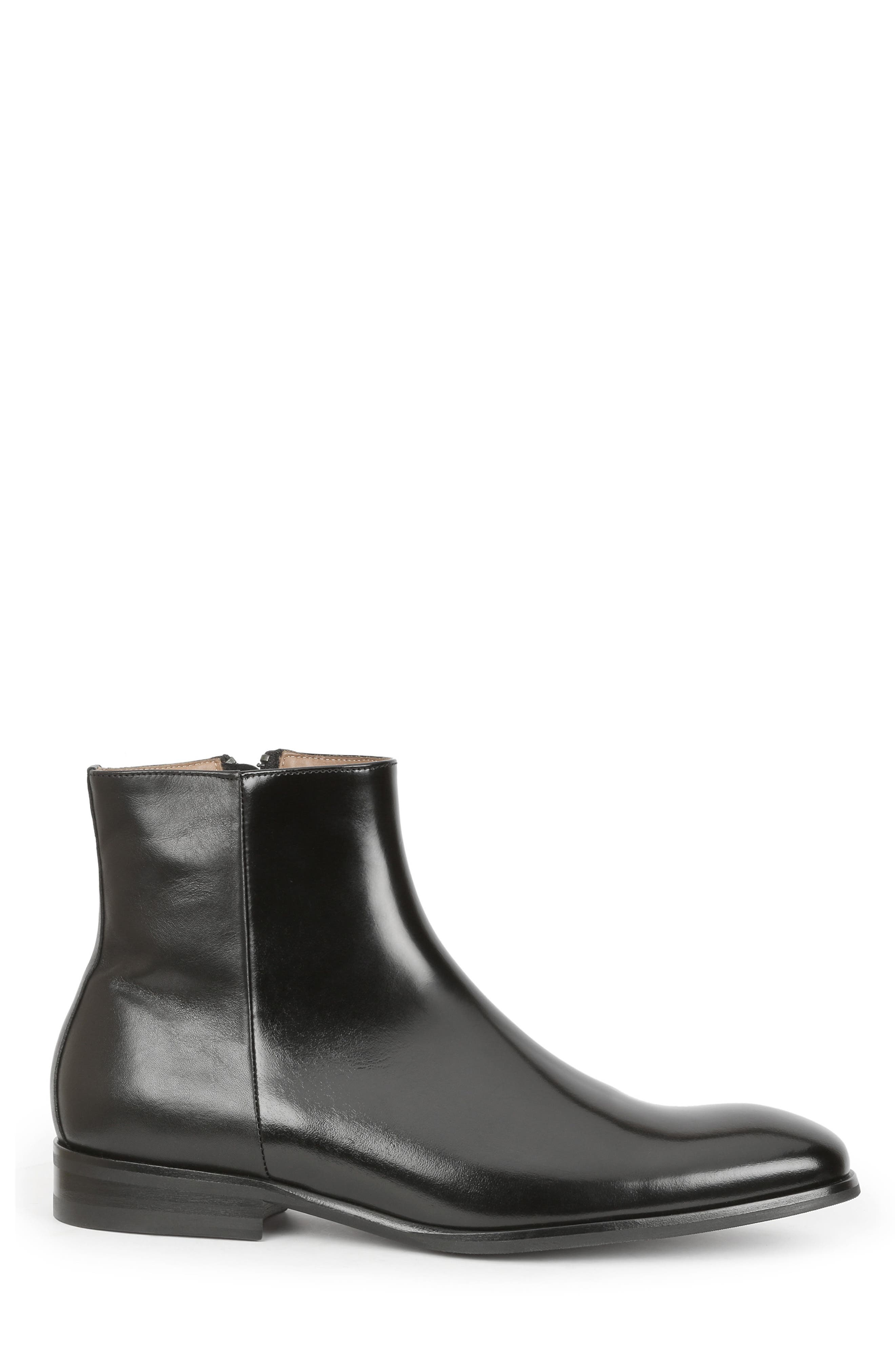 Nuncio Zip Boot,                             Alternate thumbnail 3, color,                             Black Leather