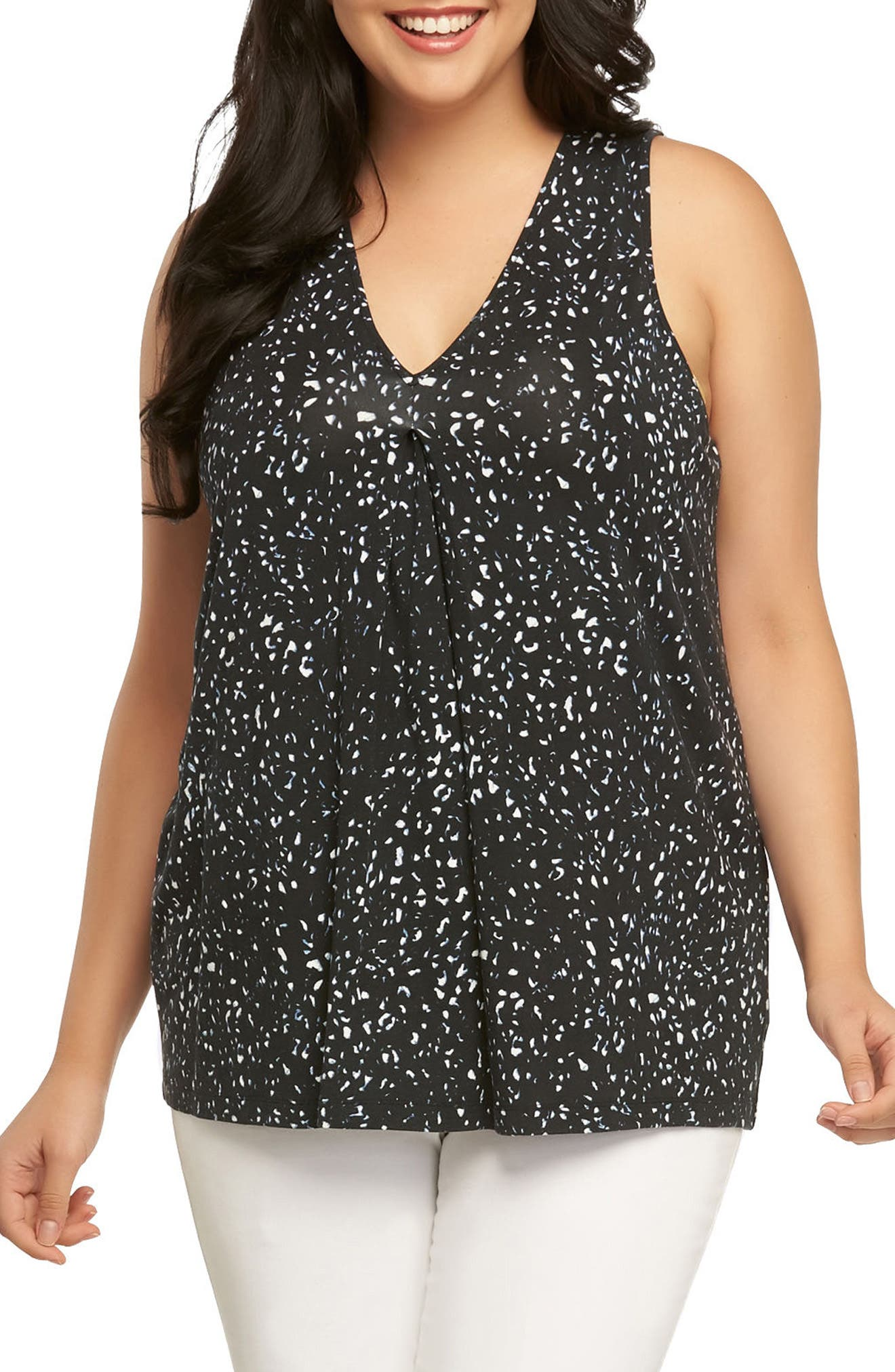 Annalise Top,                         Main,                         color, Ink Leopard