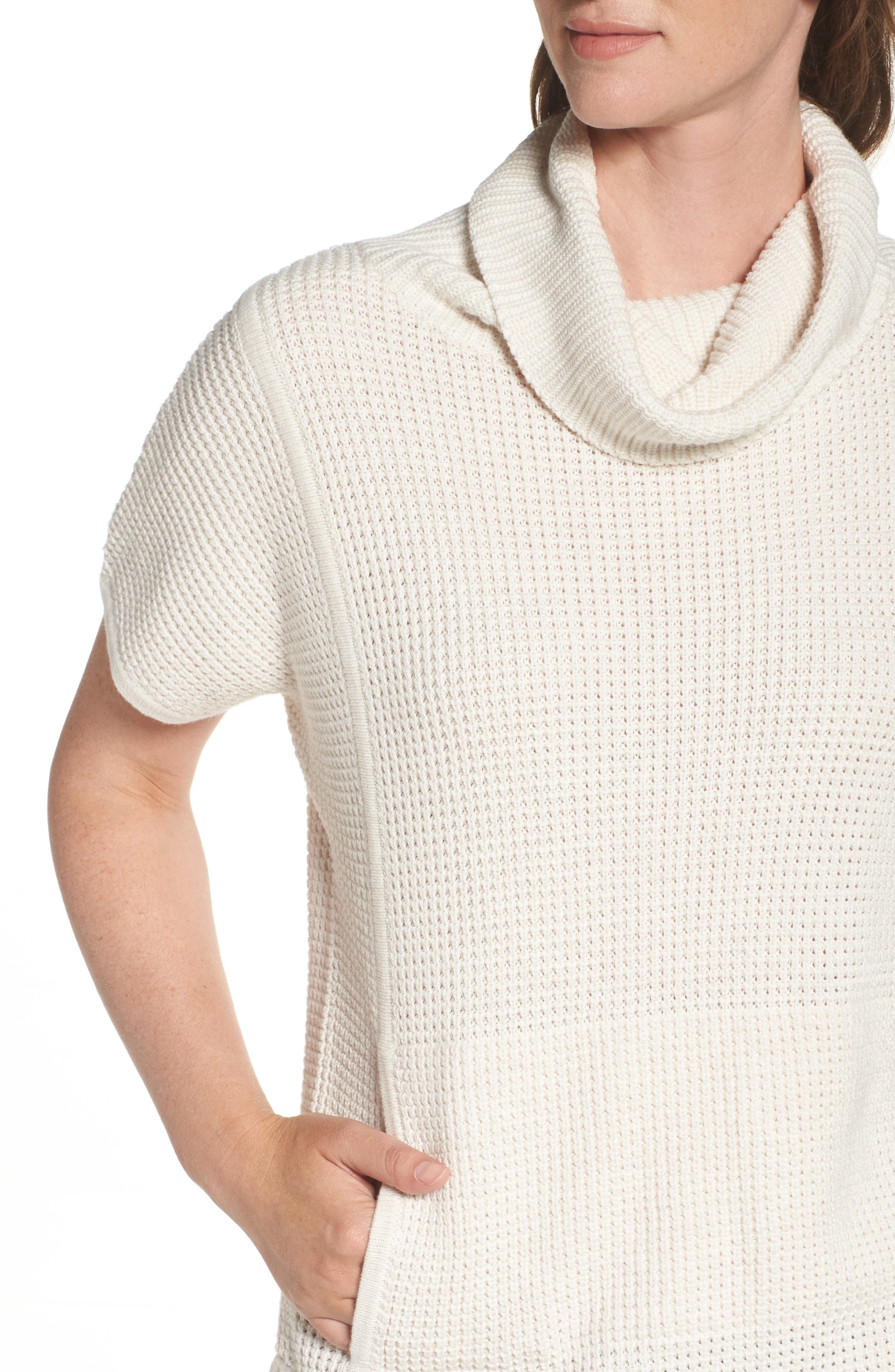 Alternate Image 5  - UGG® 'Selby' Turtleneck Cotton Knit Pullover