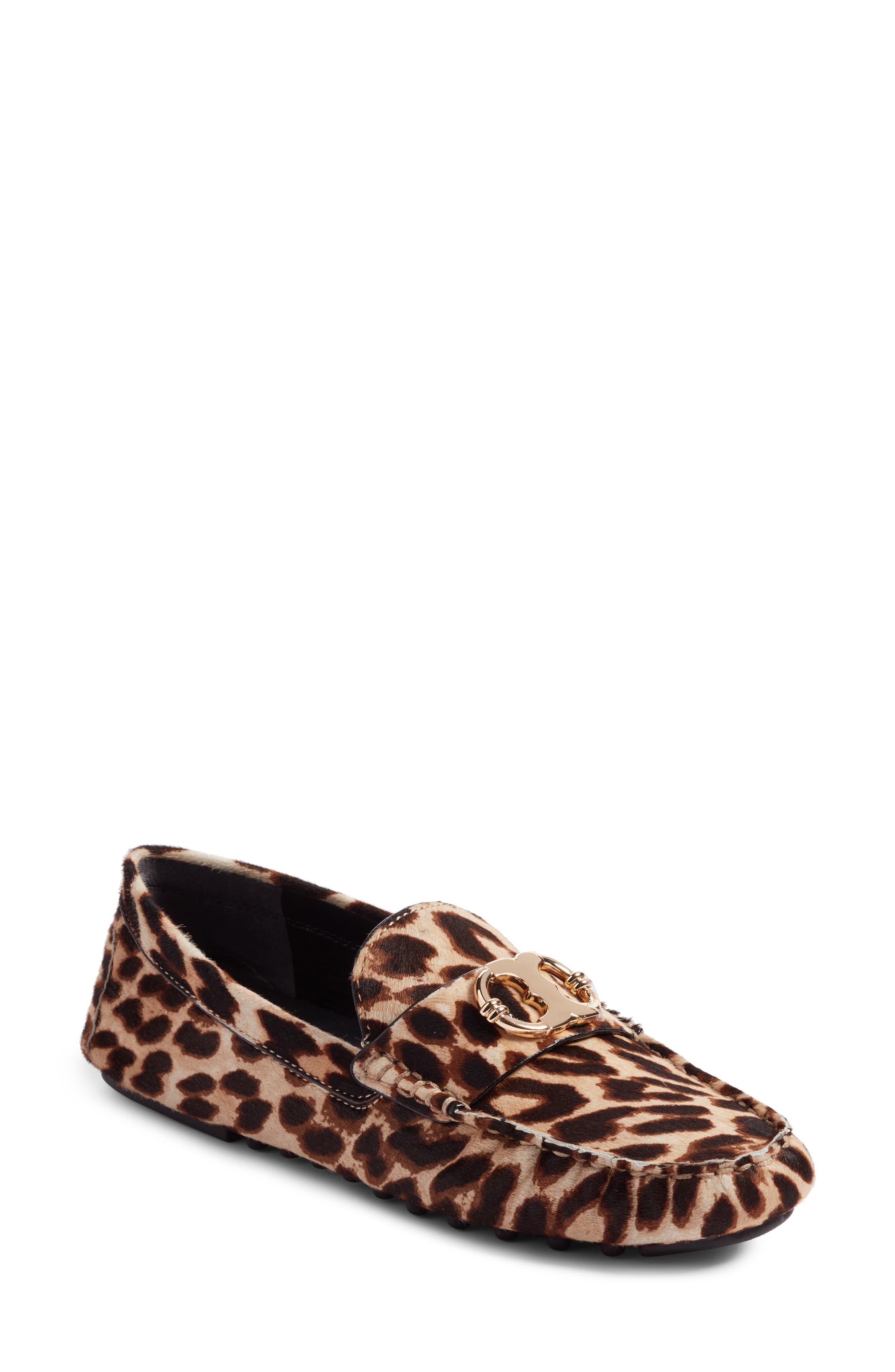 Tory Burch Gemini Genuine Calf Hair Driving Loafer (Women)
