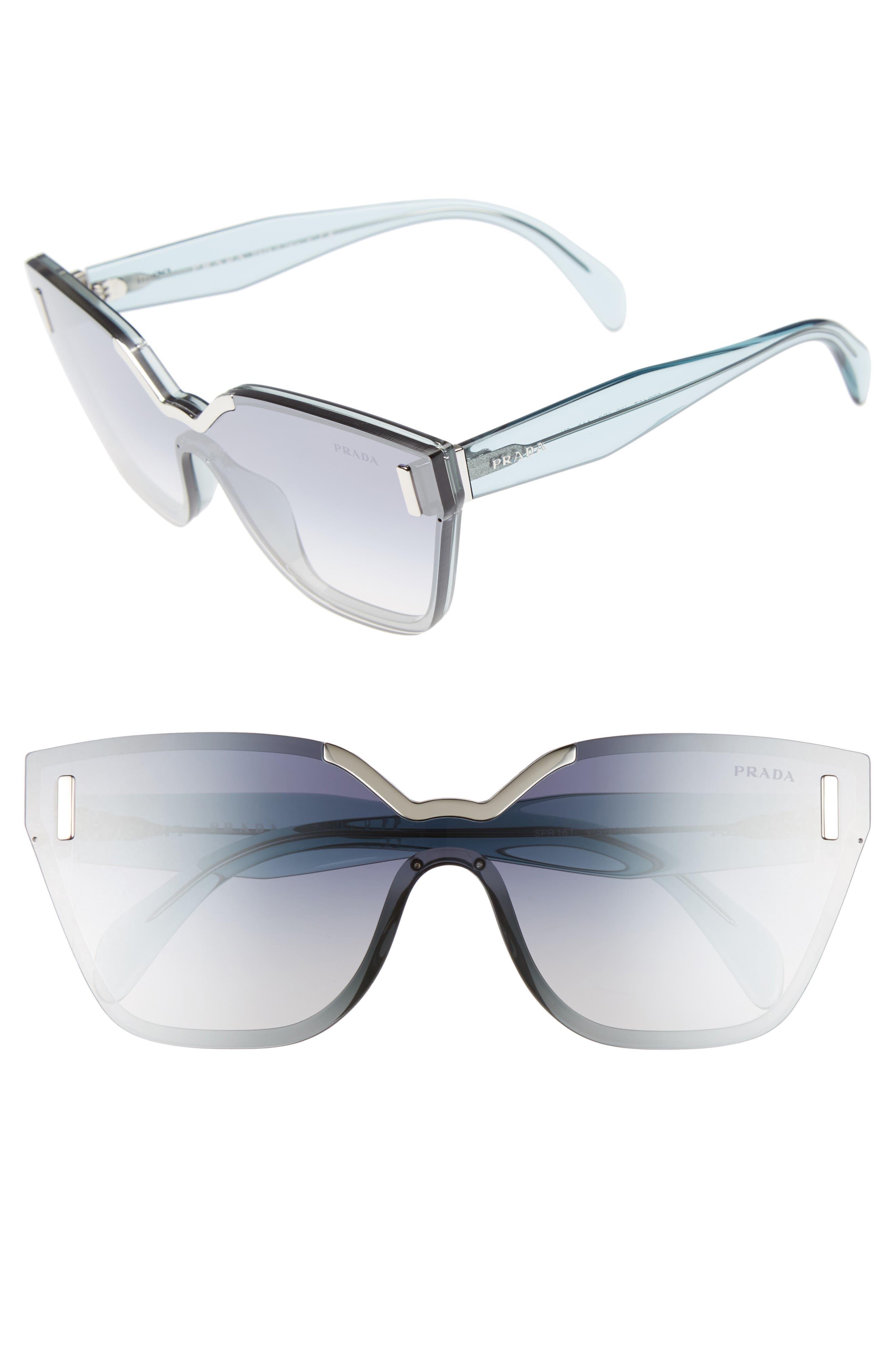 Alternate Image 1 Selected - Prada 61mm Mirrored Shield Sunglasses