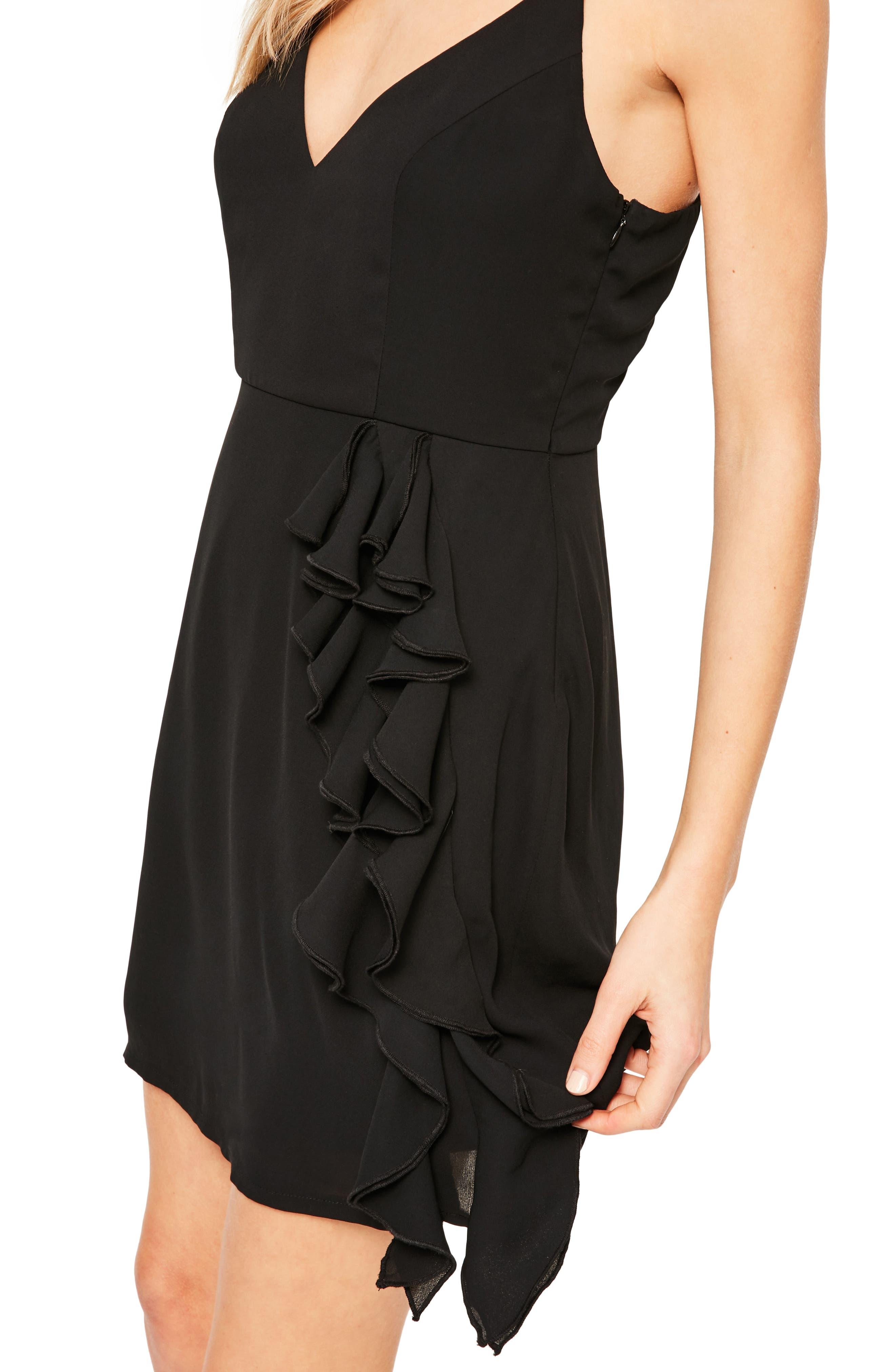 Alternate Image 3  - Missguided Ruffle Crepe Sheath Dress