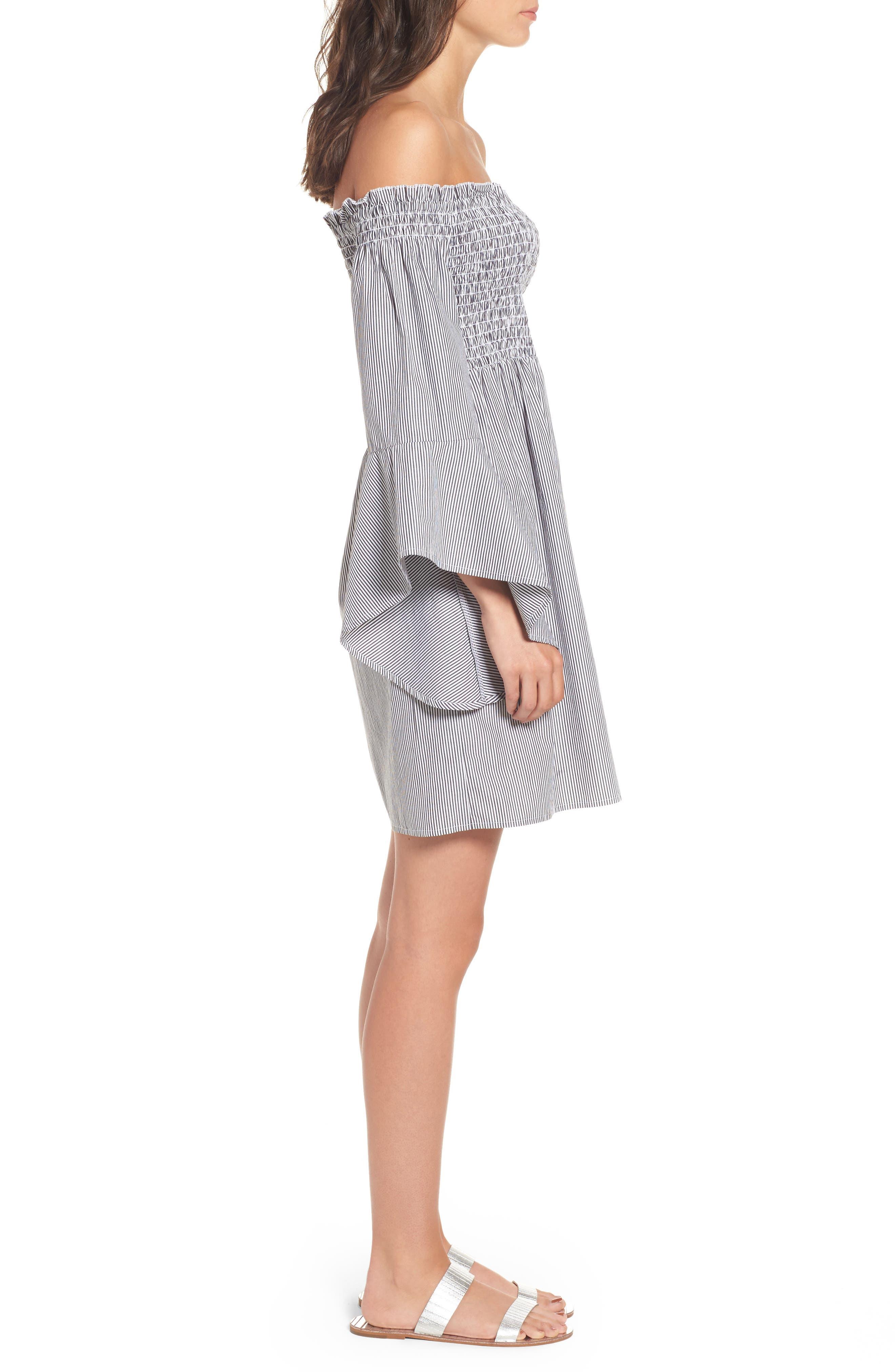 Alternate Image 3  - BP. Smocked Off the Shoulder Dress