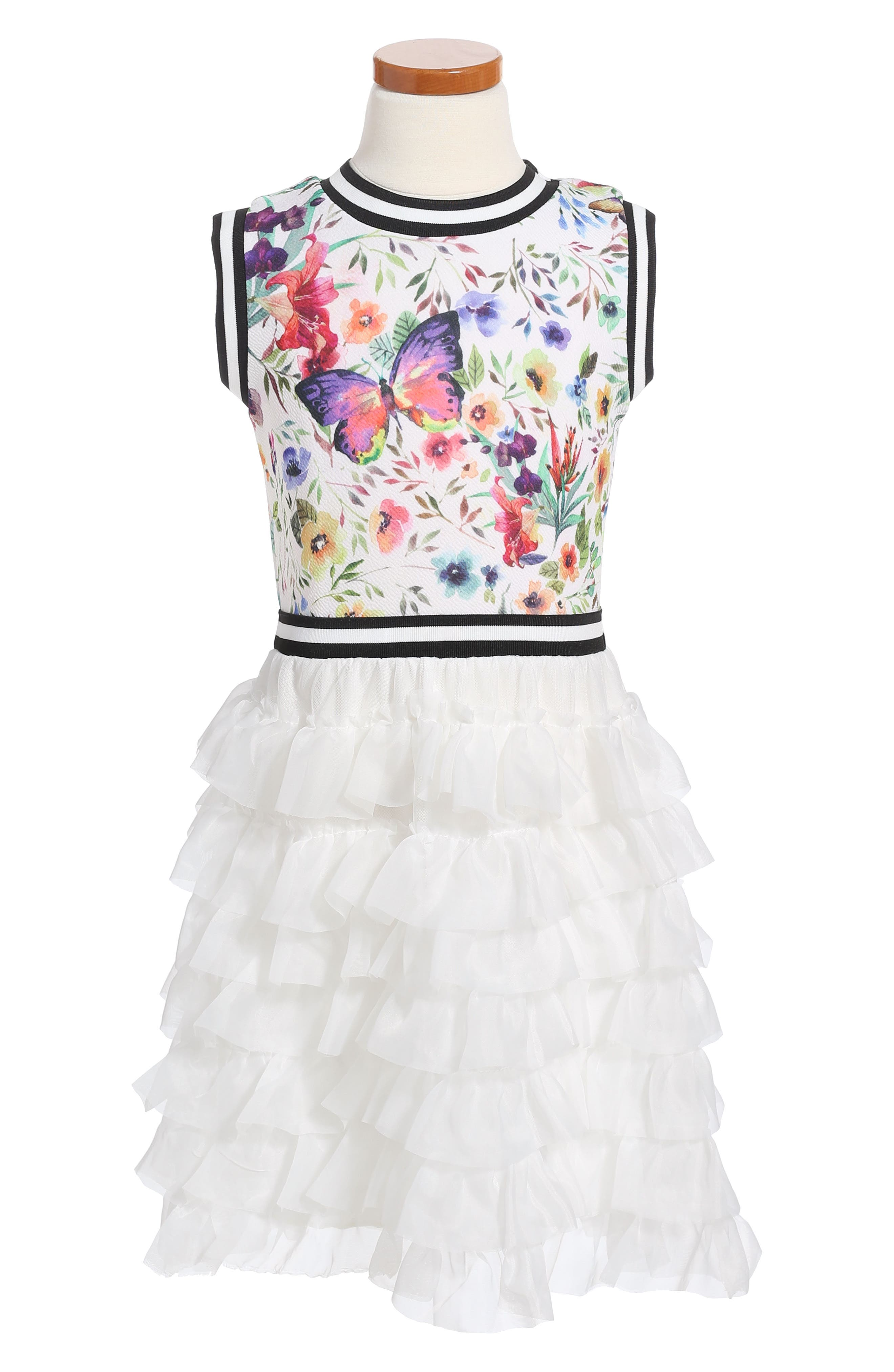 Twirls & Twigs Floral Tulle Dress (Toddler Girls, Little Girls & Big Girls)