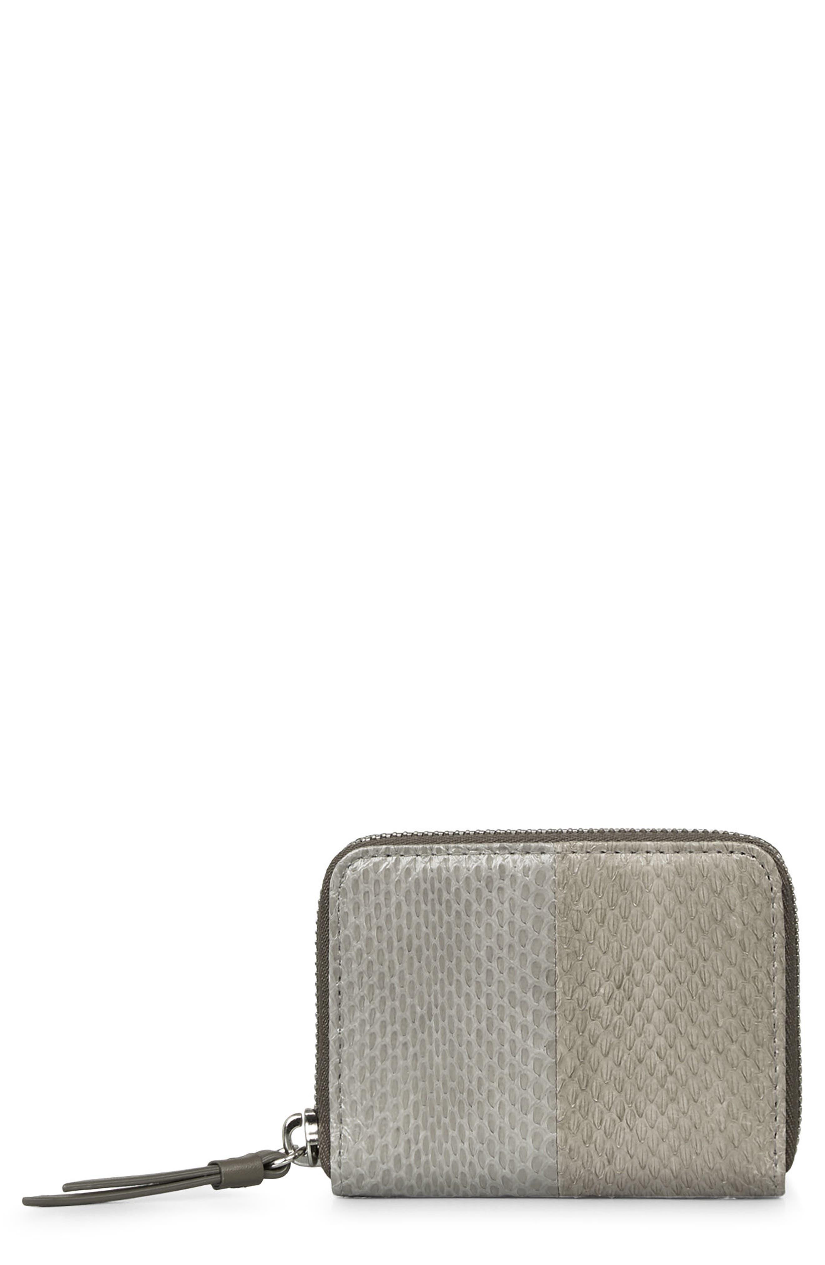 Main Image - ALLSAINTS Ikuya Leather & Genuine Snakeskin Wallet
