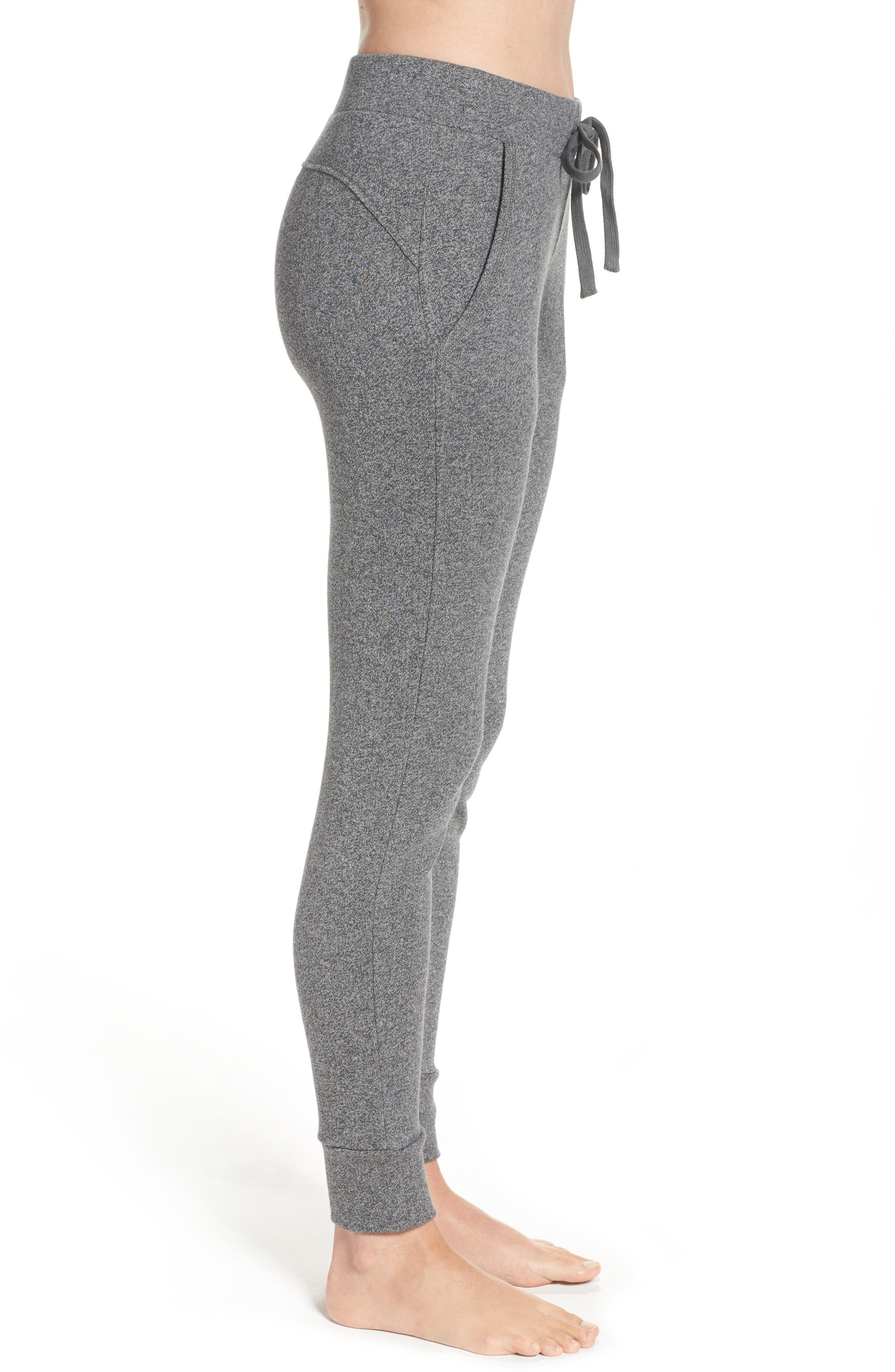 Clementine Terrry Sweatpants,                             Alternate thumbnail 3, color,                             Charcoal Heather