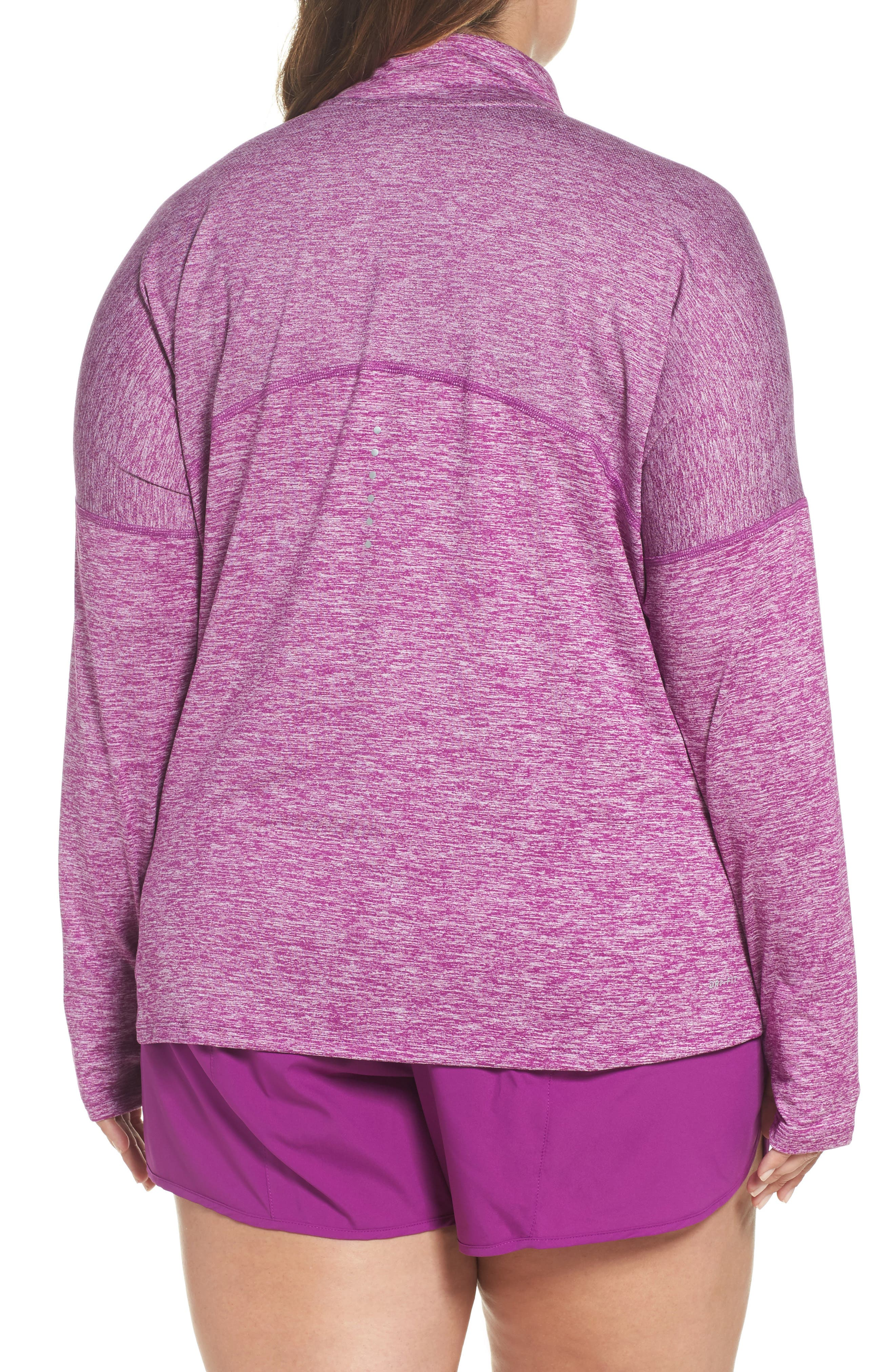 Dry Element Half Zip Top,                             Alternate thumbnail 2, color,                             Bold Berry/ Heather