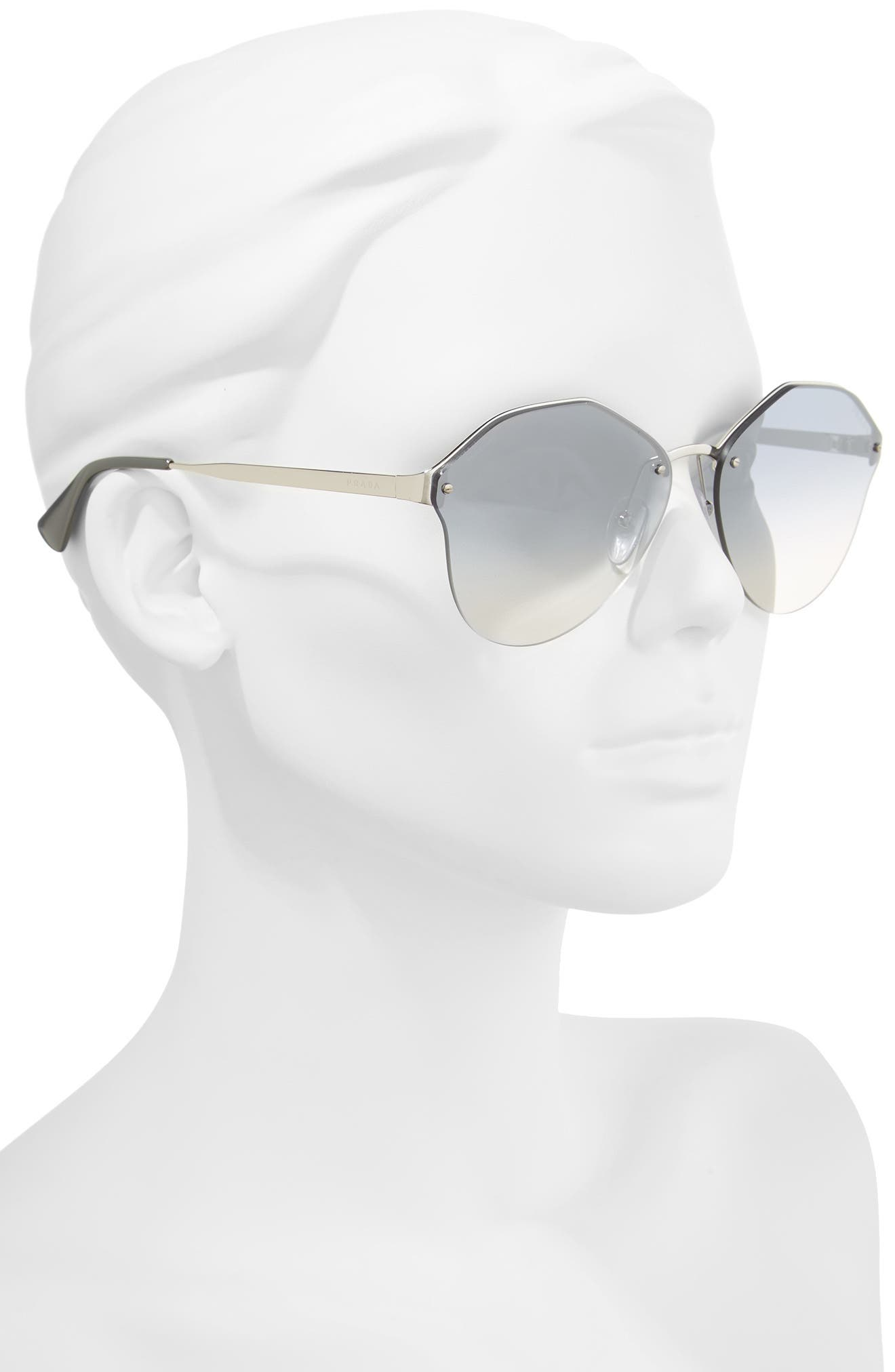 Alternate Image 2  - Prada 66mm Gradient Rimless Sunglasses