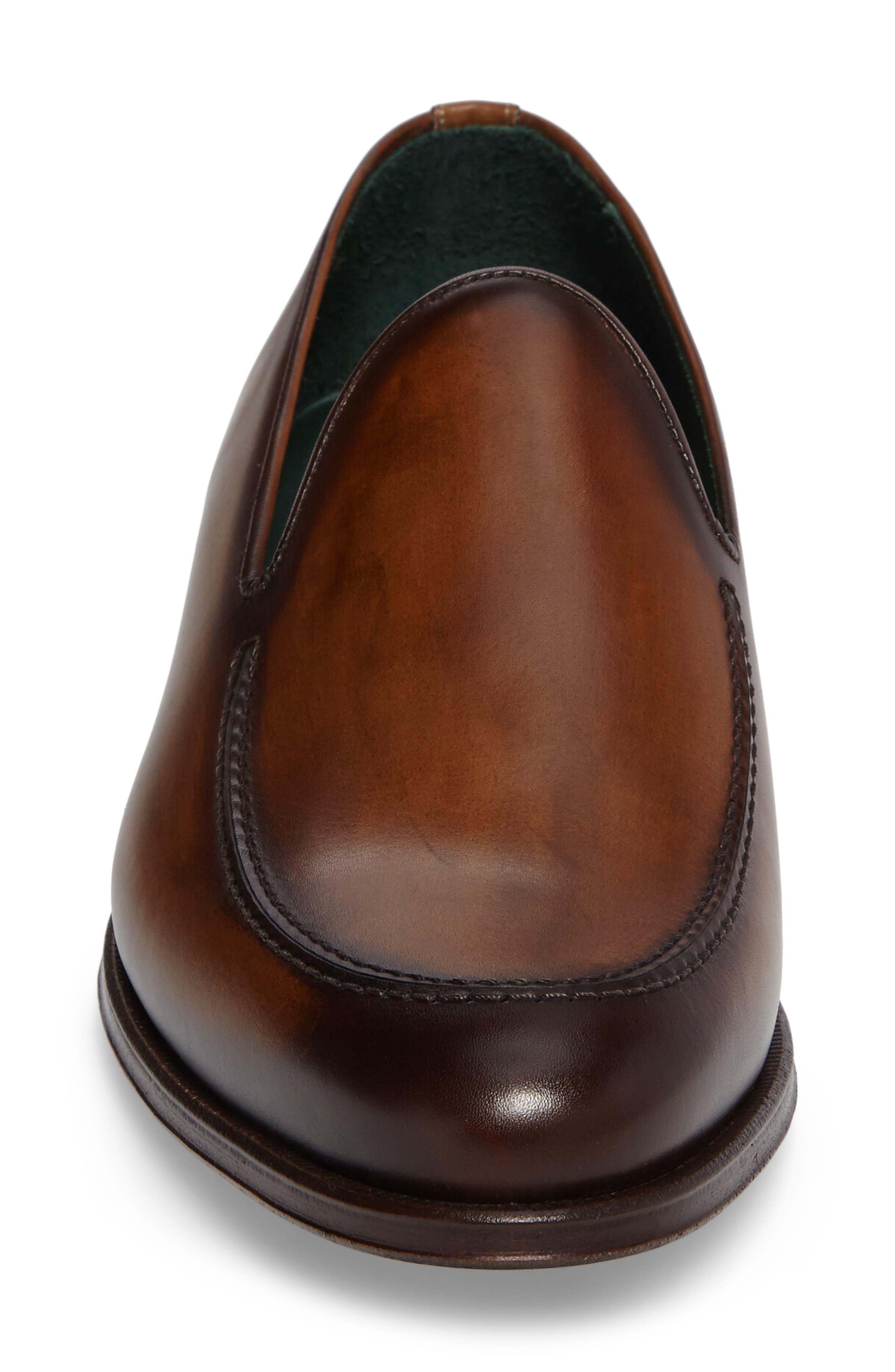 Rodin Apron Toe Loafer,                             Alternate thumbnail 4, color,                             Cognac Leather