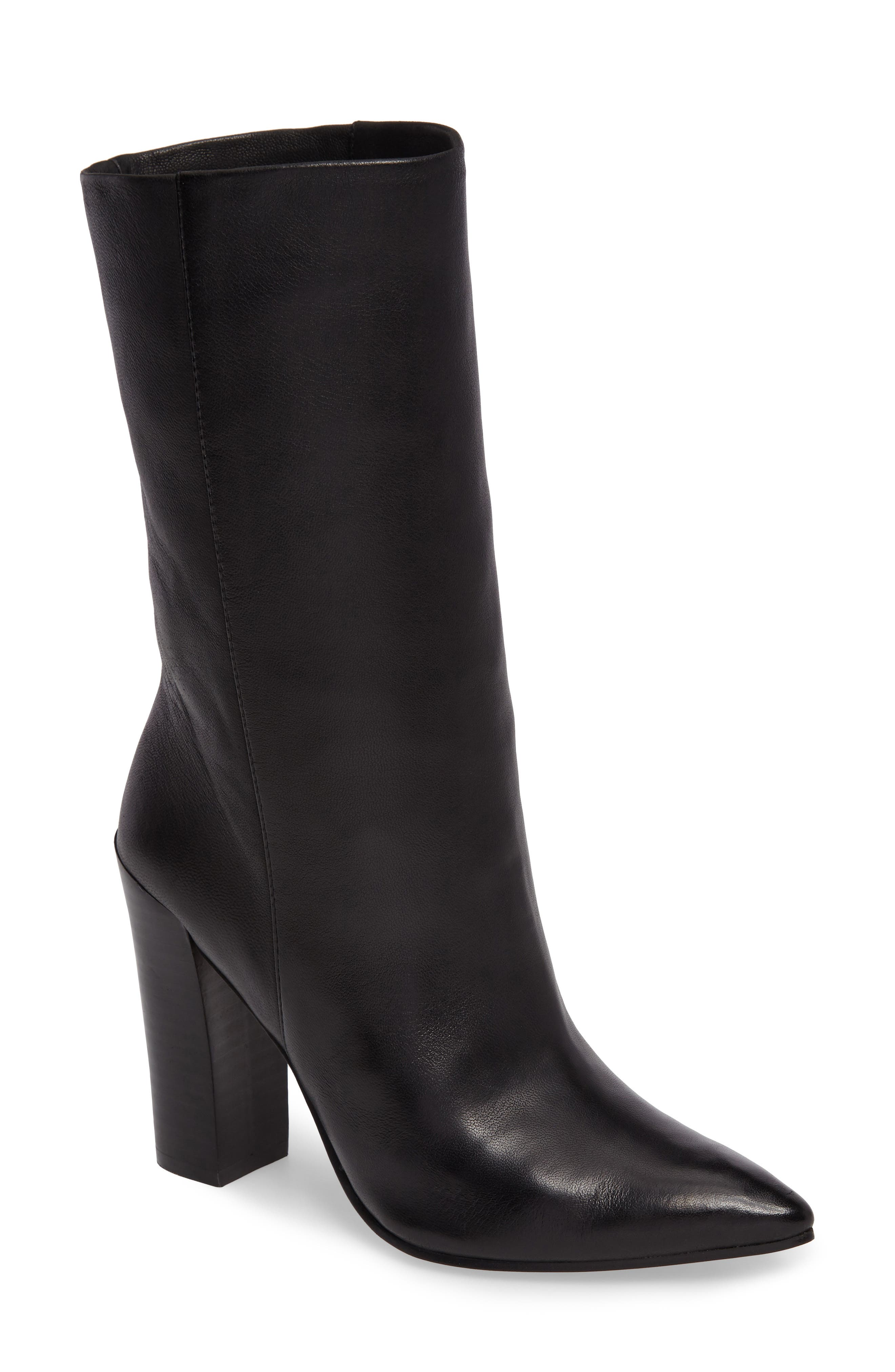 Ethan Pointy Toe Bootie,                         Main,                         color, Black