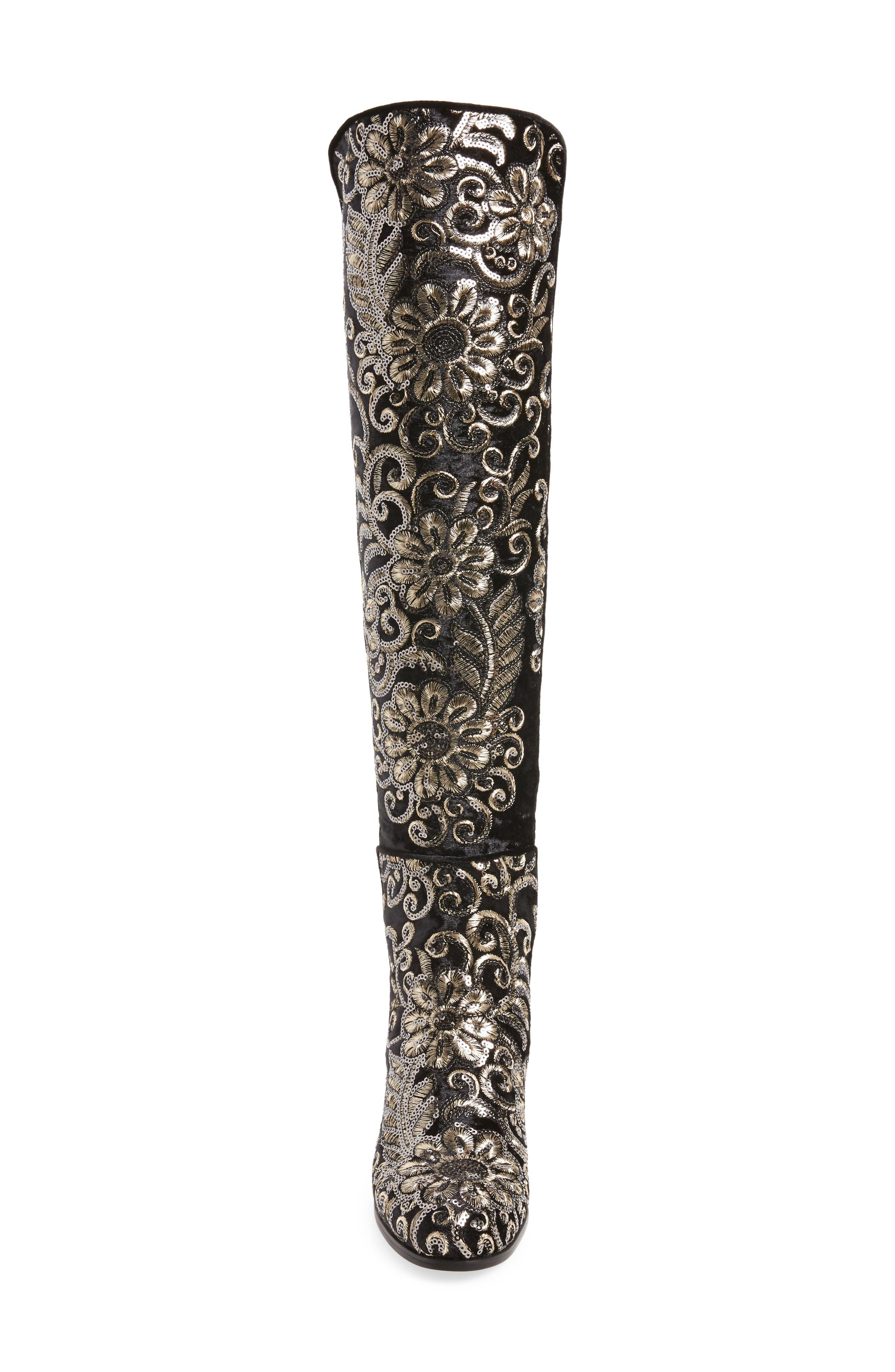 Alternate Image 4  - Stuart Weitzman Lowjack Over the Knee Stretch Velvet Boot (Women)